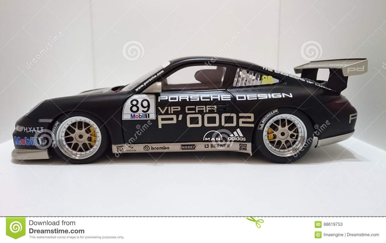 Porsche Gt3 Rs Sports Car Black Livery Design Editorial