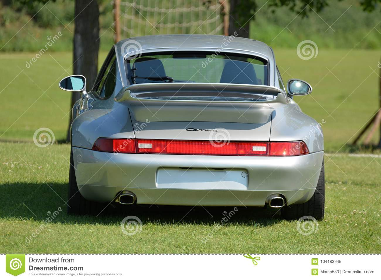 Back View On Porsche 911 Model 993 Editorial Image Image Of Early
