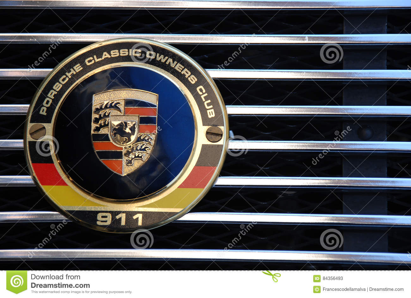 Porsche 911 logo detail editorial stock photo  Image of