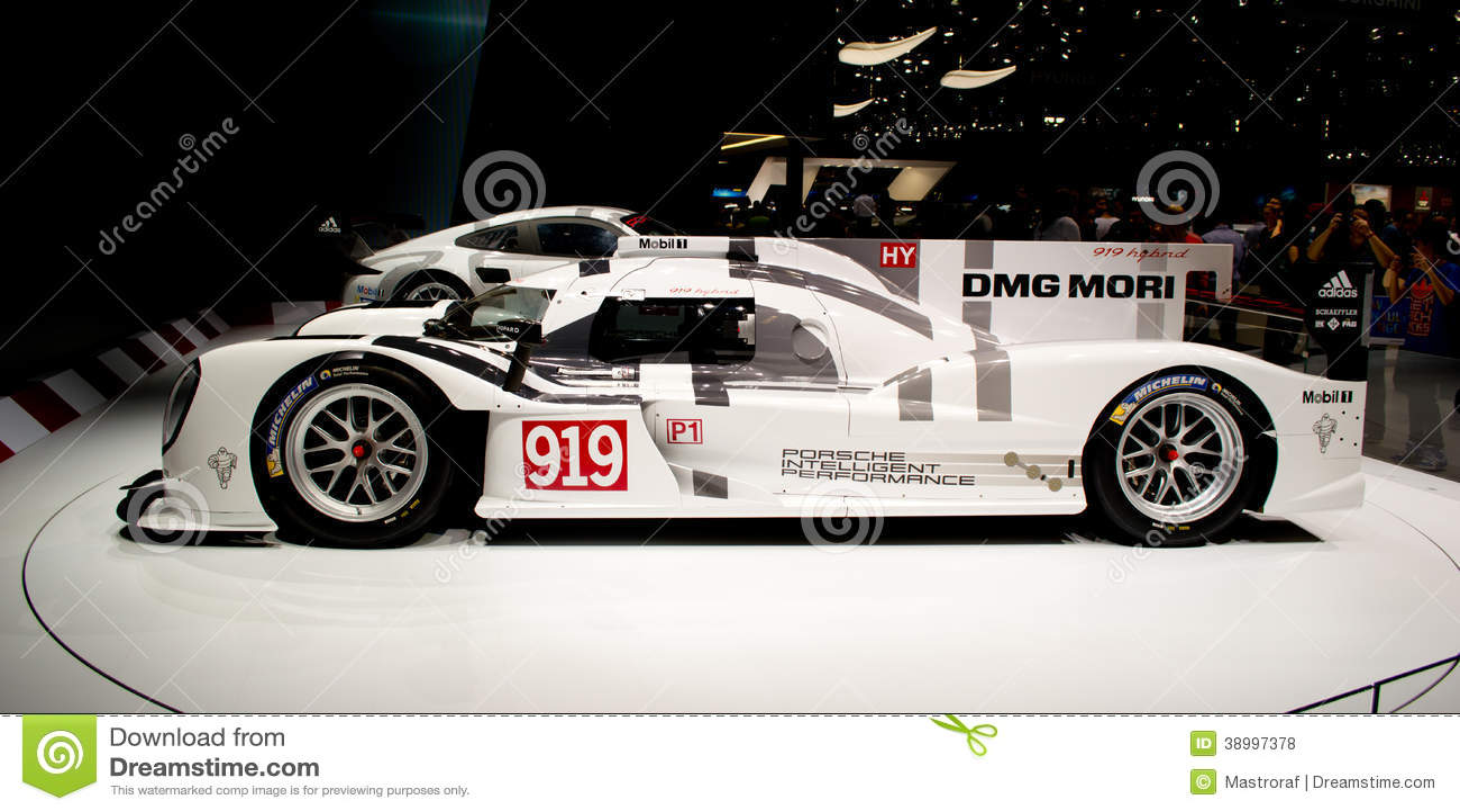 Porsche 919 premiere geneva 2014 editorial stock photo - Salon de the le mans ...