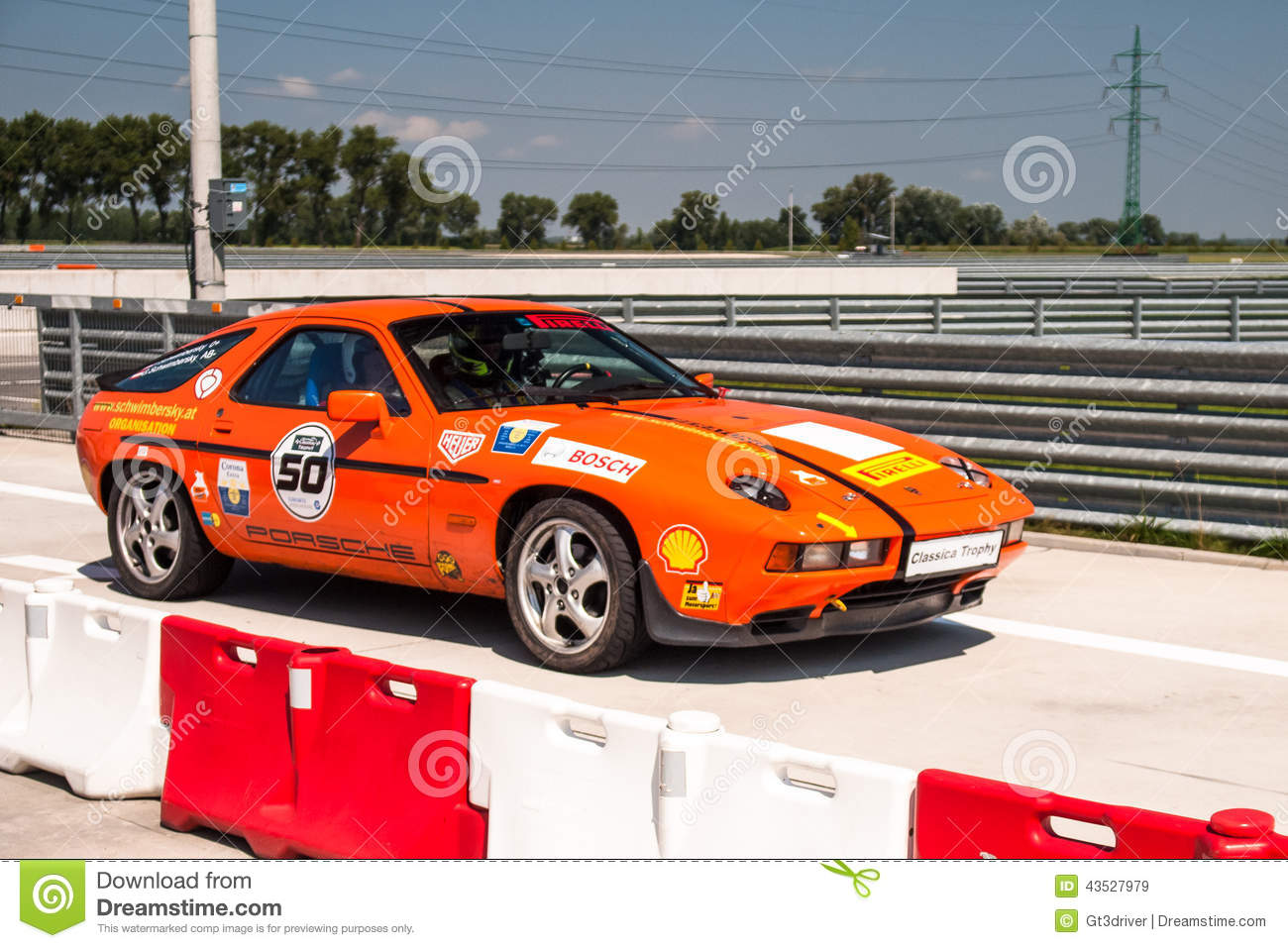 Porsche 928 racing car editorial stock image  Image of