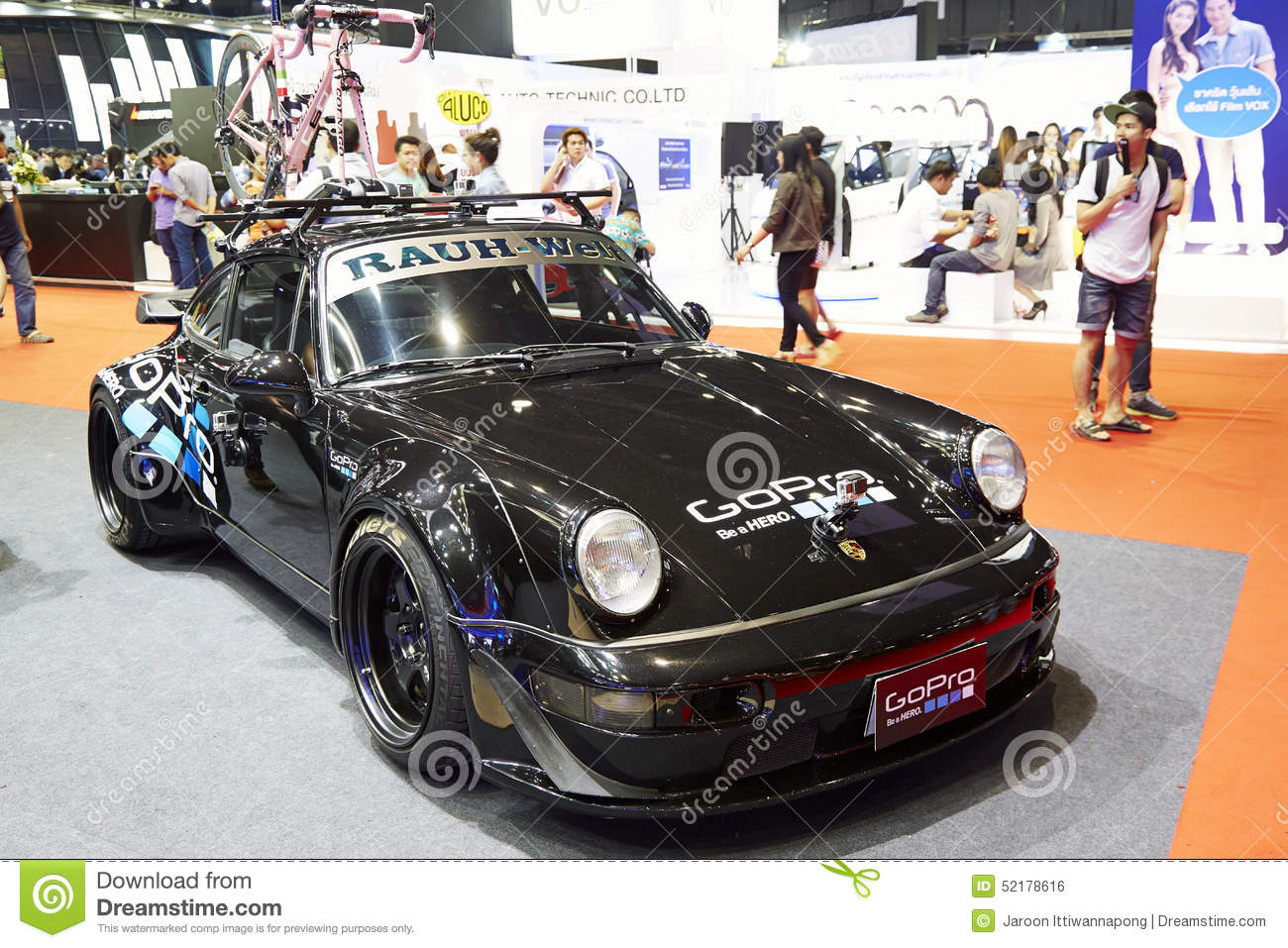 Porsche 911 Racing Modifications Car By Gopro On Display At The