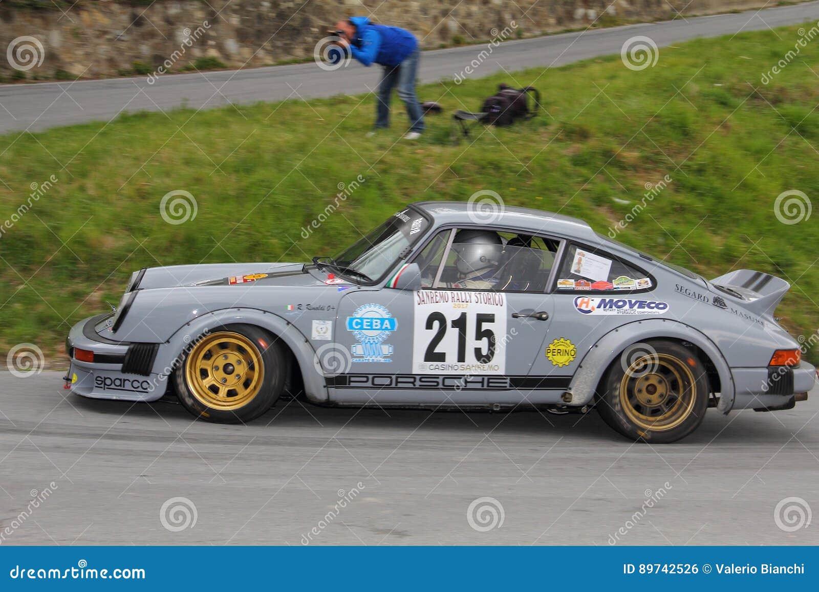 Porsche 911 Sc Race During The 64th Sanremo Rally Editorial Photo