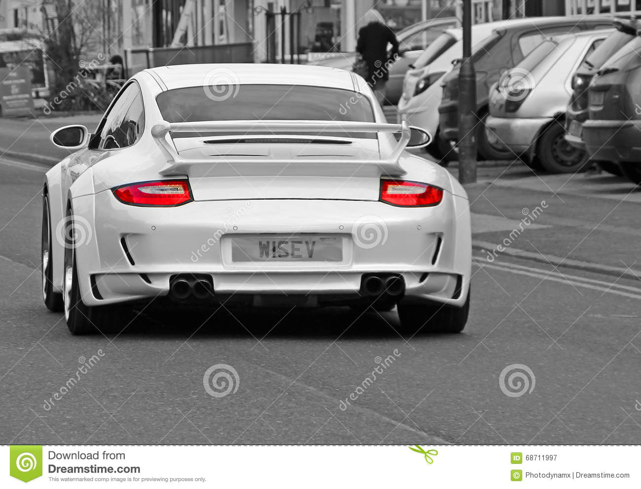 Porsche Street Car Editorial Photography Image Of Lamps