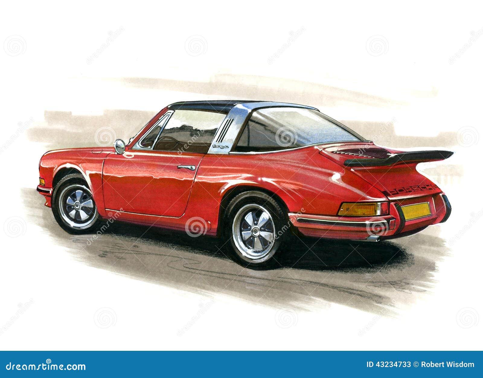 Porsche 911 Targa Editorial Stock Photo Illustration Of Gleaming