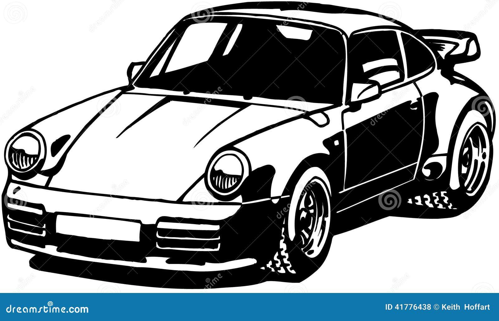 Porshe Car Cartoon Vector Clipart Stock Vector - Image