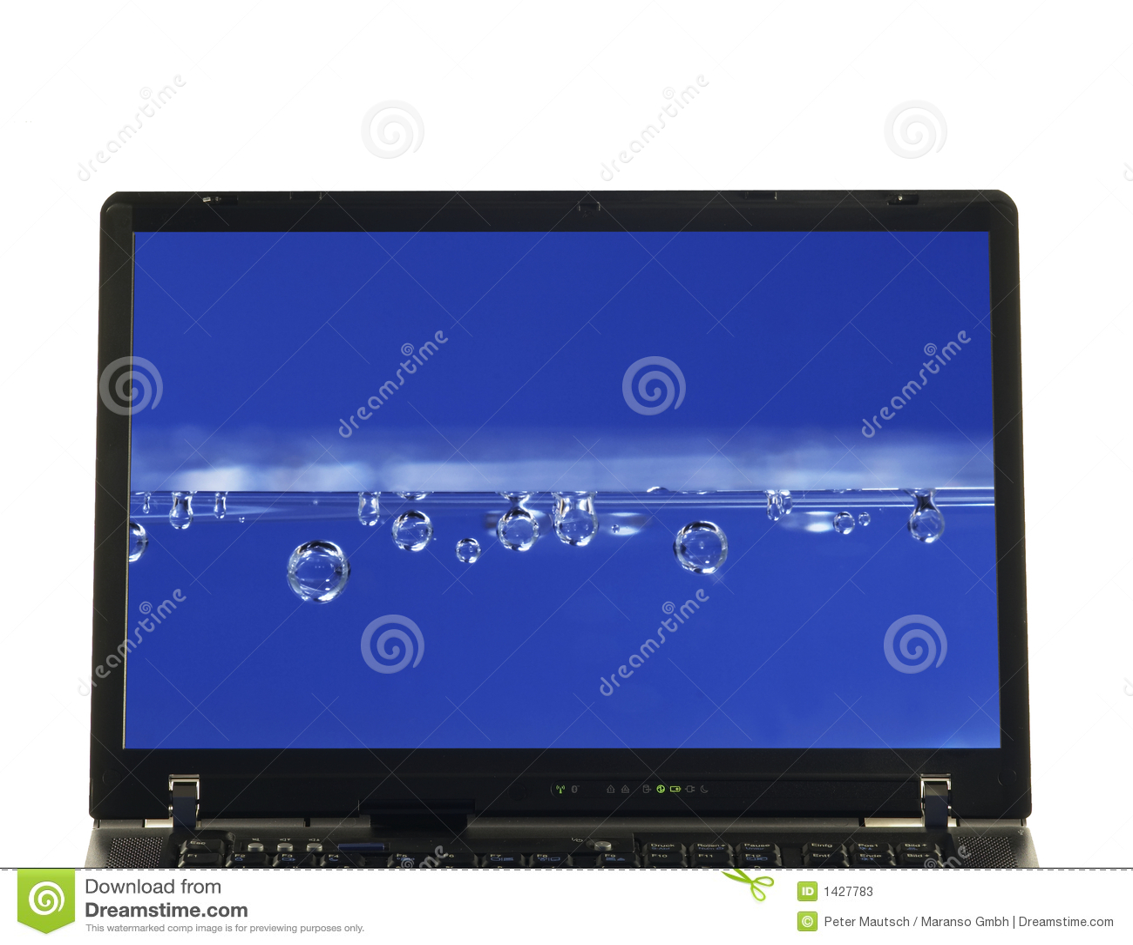 Portátil isolado - água na tela