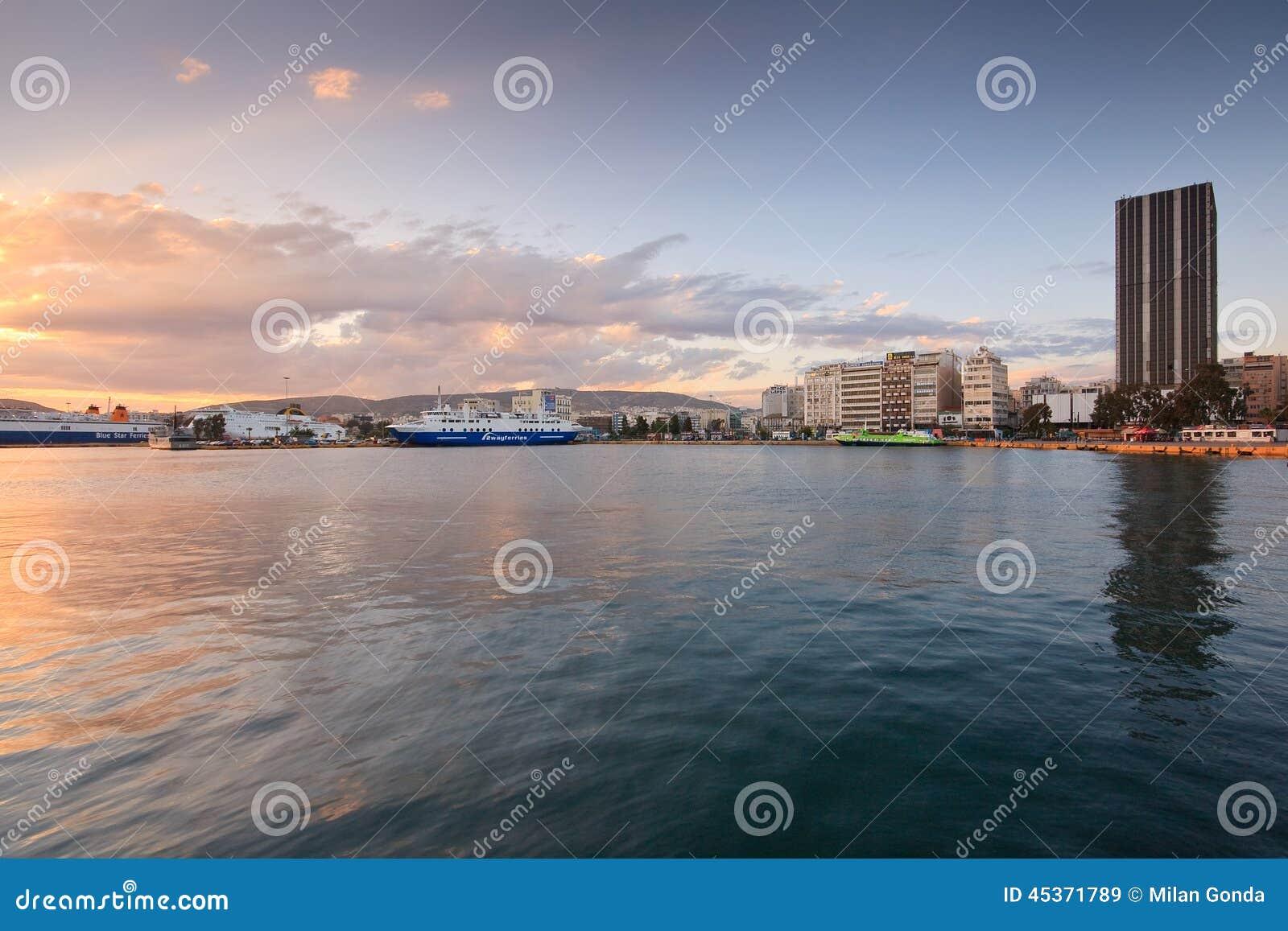 Port à Le Pirée, Athènes, Grèce