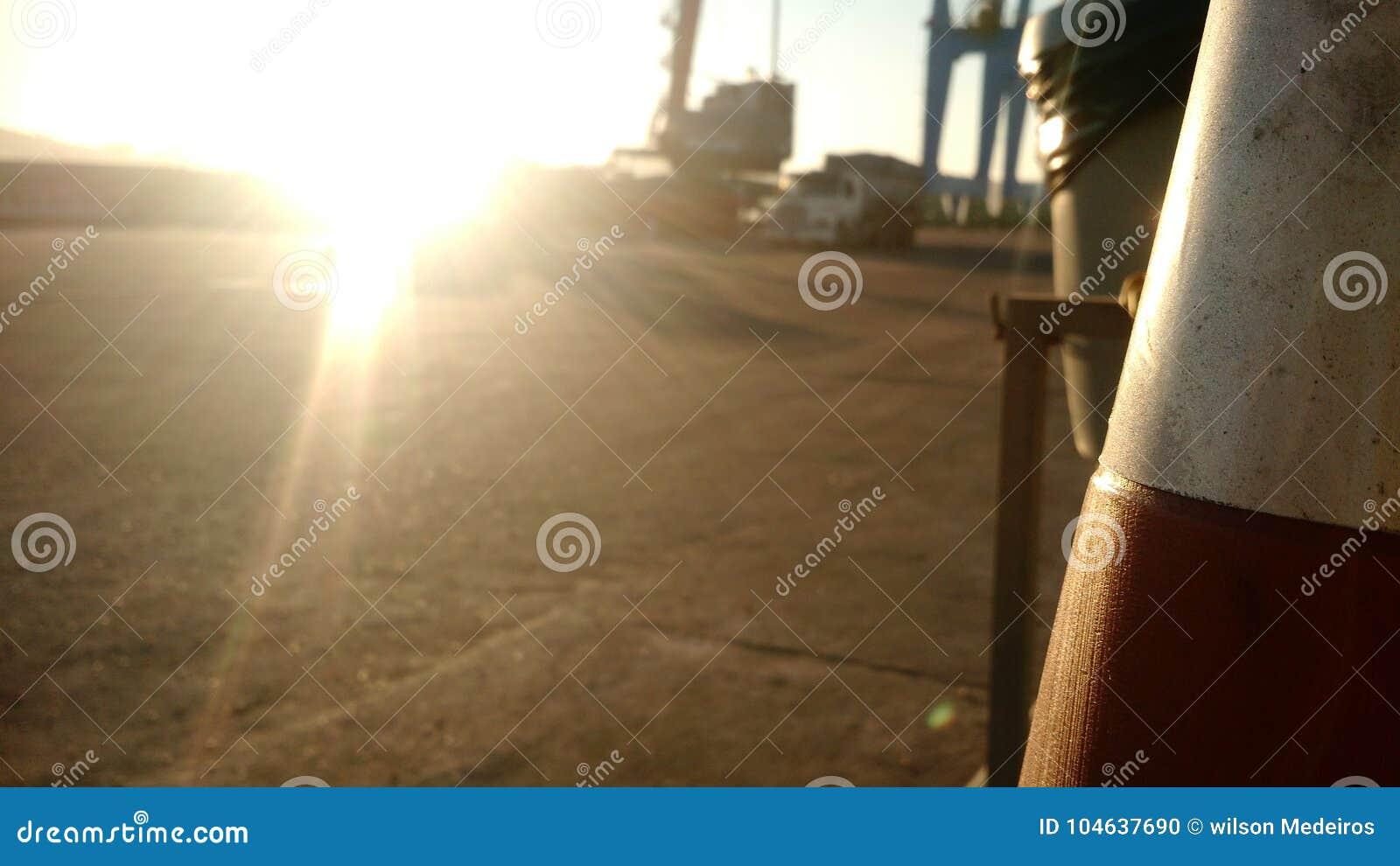 Download Port1 stock foto. Afbeelding bestaande uit sundown, overzees - 104637690