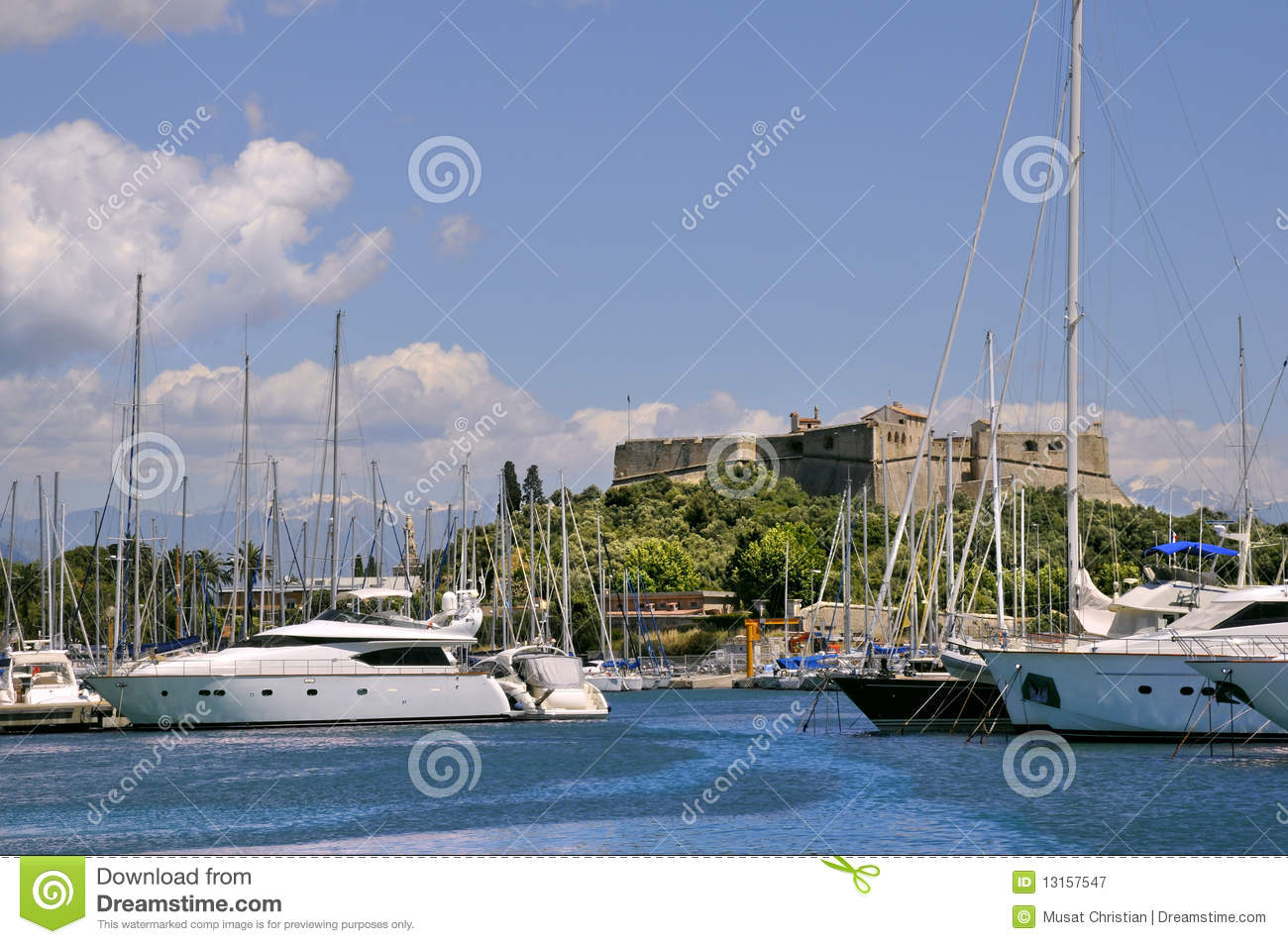 port of antibes in france royalty free stock photography image 13157547. Black Bedroom Furniture Sets. Home Design Ideas