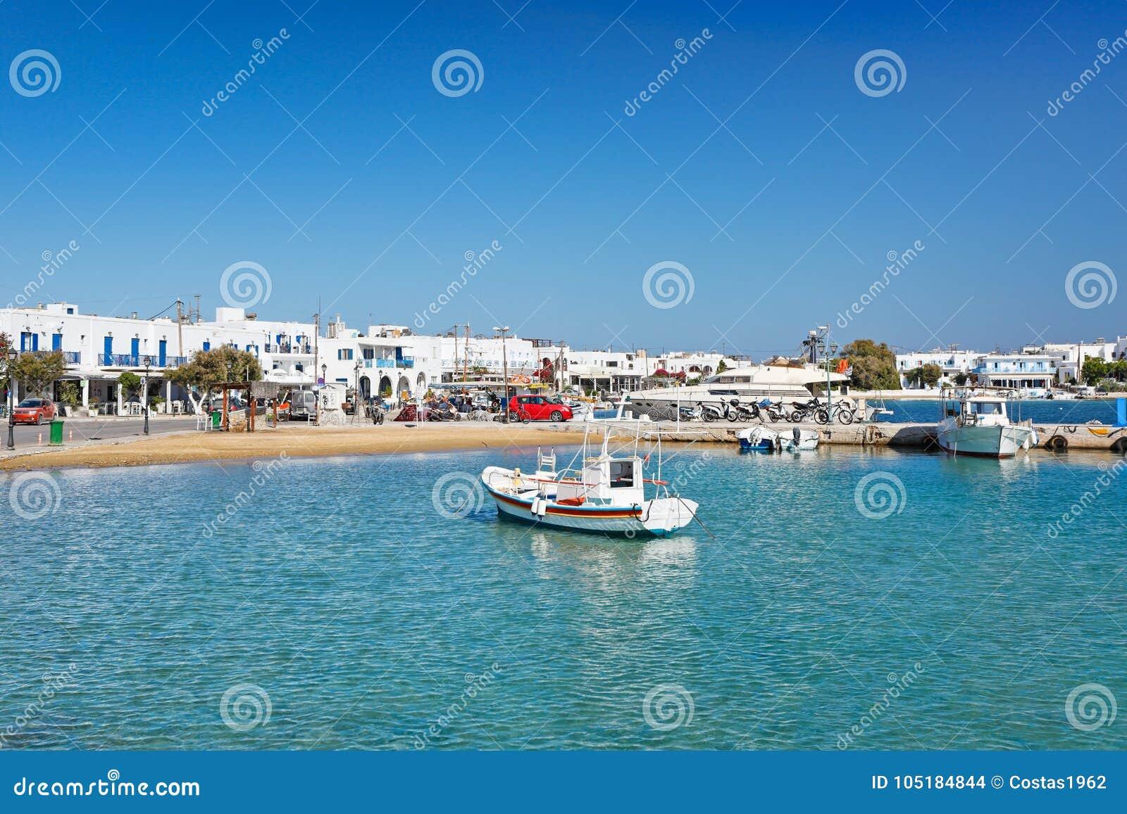 The port of Antiparos island, Greece