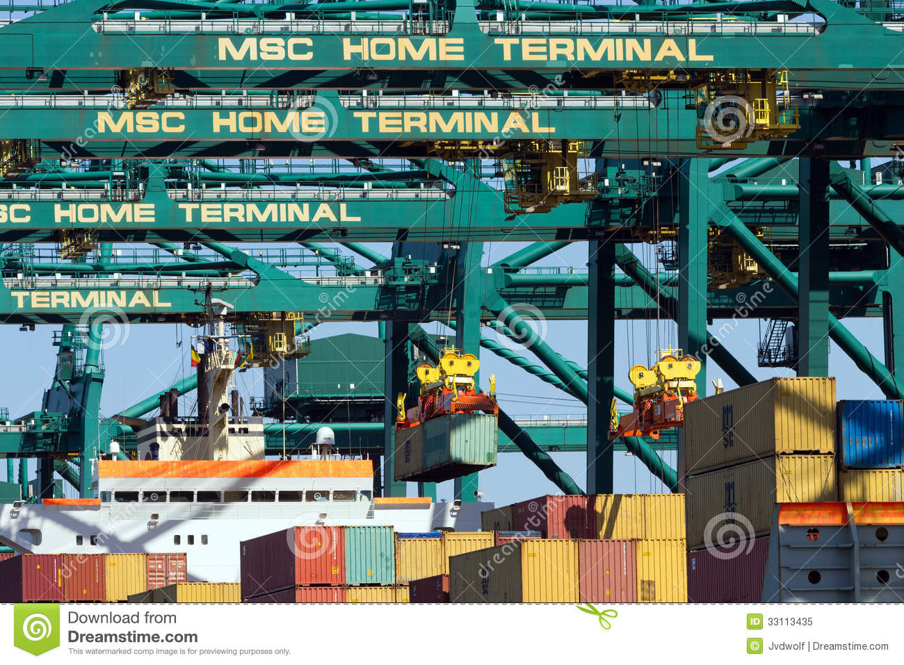 ... container-ship-beaing-unloaded-msc-home-terminal-july-belgium-msc-home