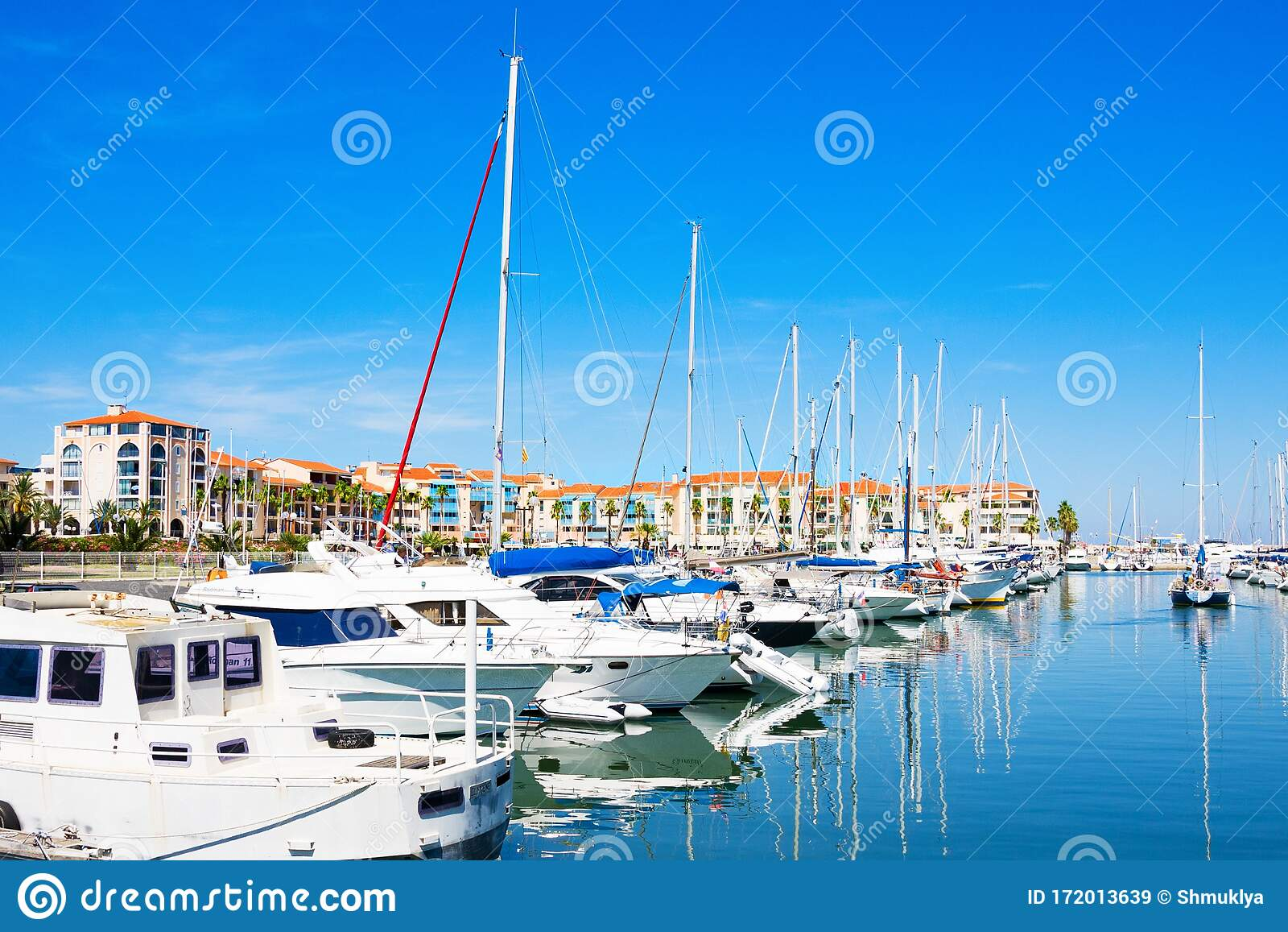Port Argeles Sur Mer In Pyrenees Orientales Department Languedoc Roussillon Region In Southern France Editorial Stock Image Image Of Mast Europe 172013639