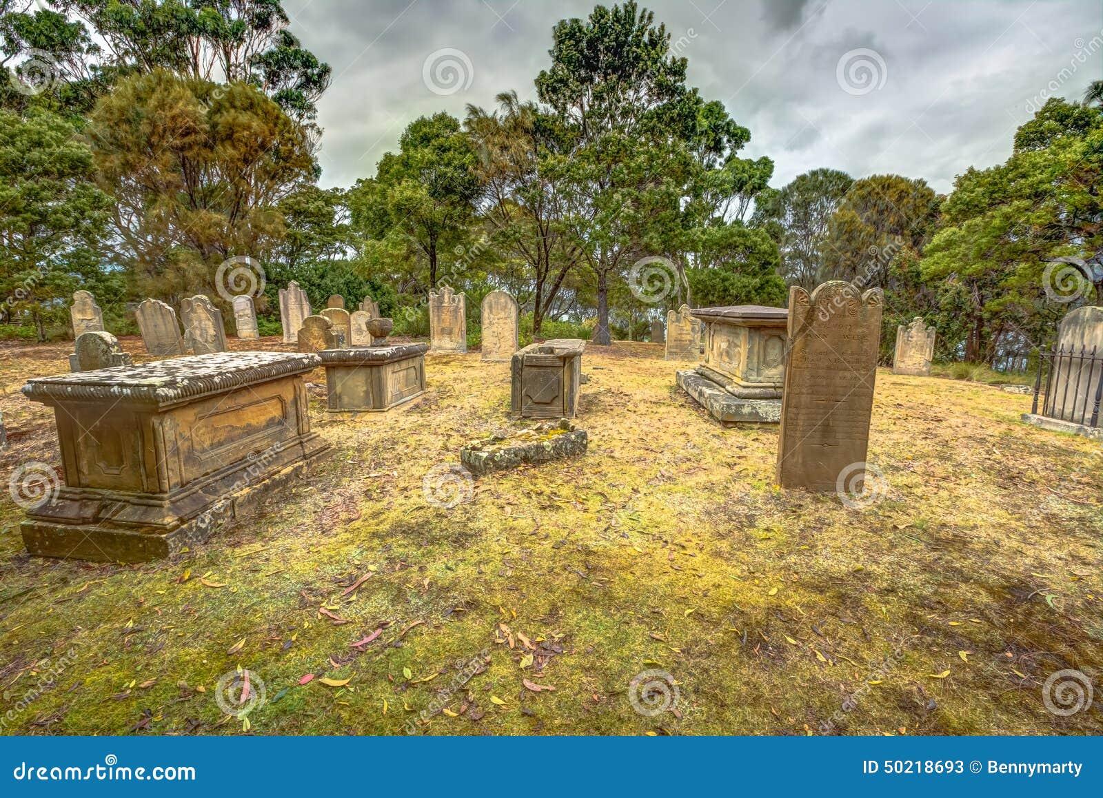 Port Arthur: gamla gravar och gravstenar
