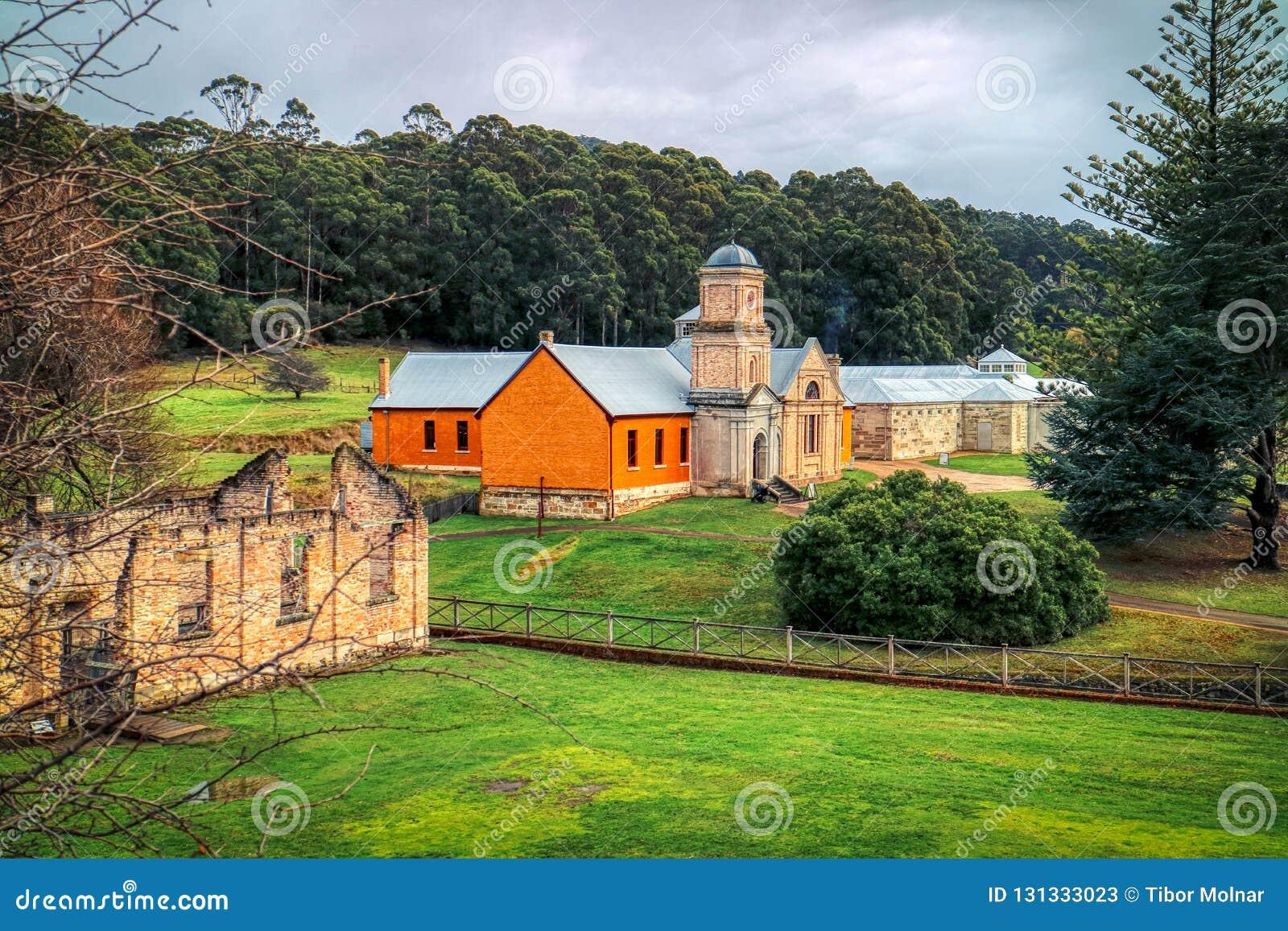 Port Arthur Penal Colony Historic Site, the Asylum building, completed in 1868 Tasman Peninsula, Tasmania, Australia