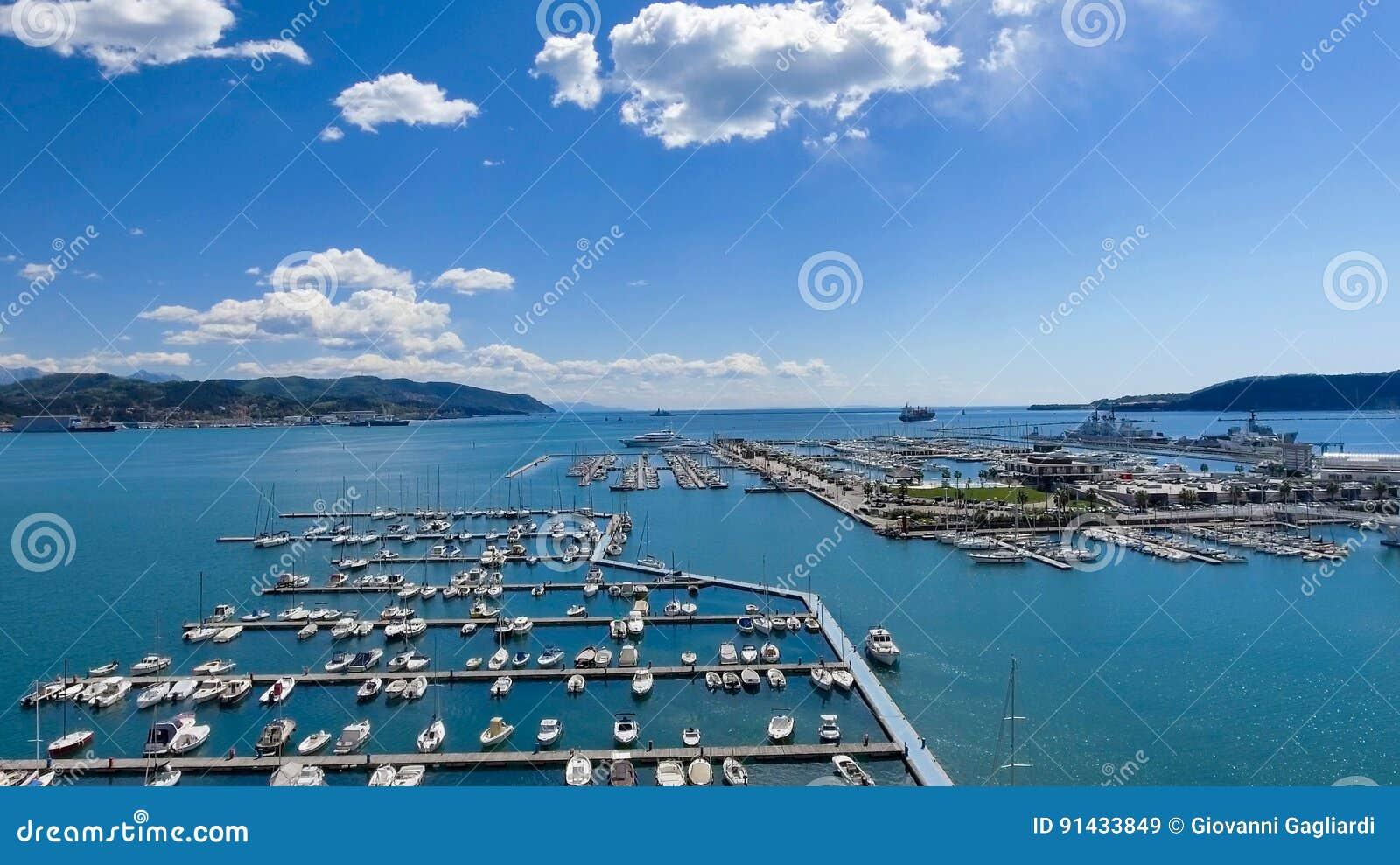 Port av La Spezia, Italien