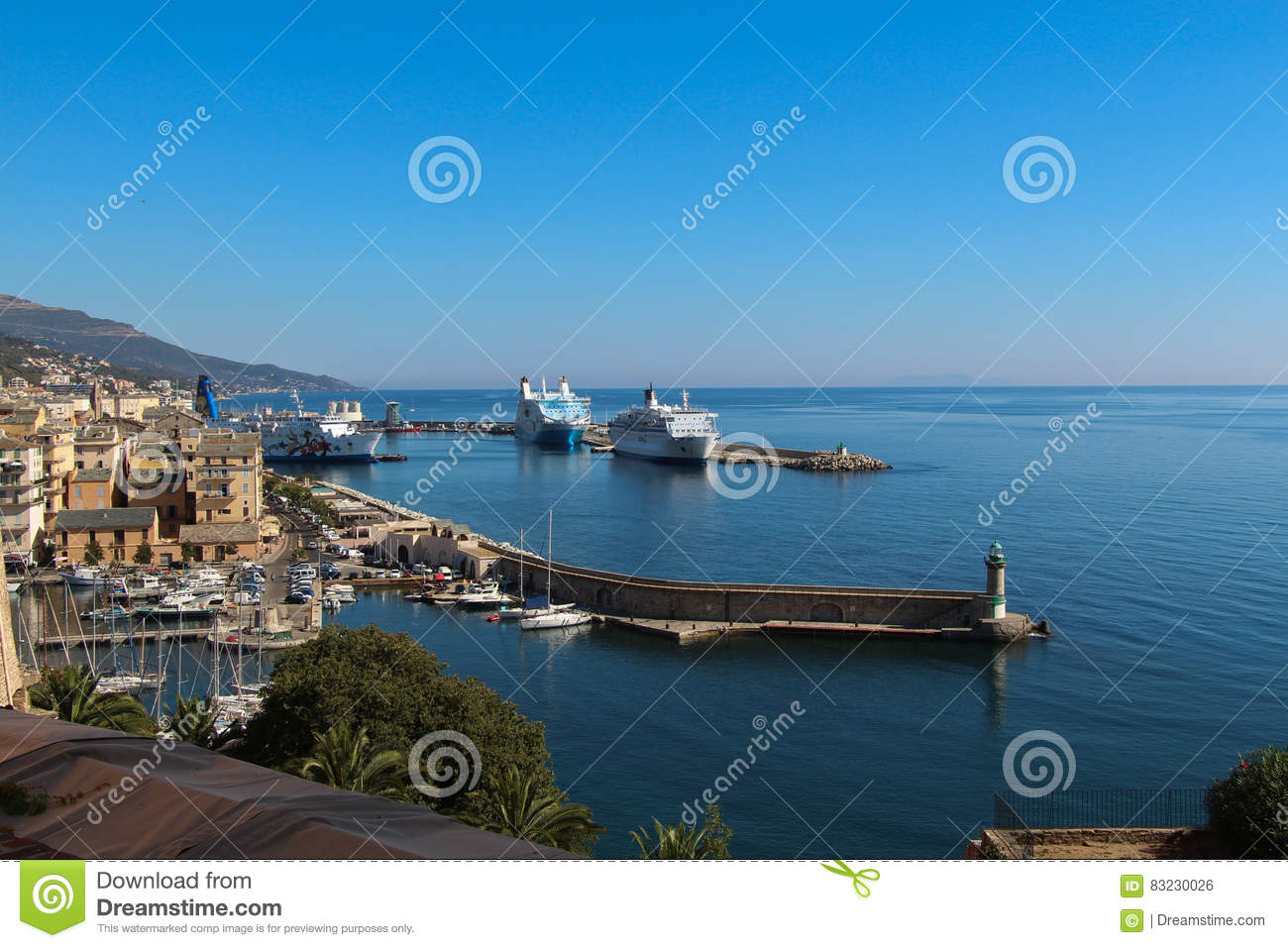 Port Of Bastia Corse France Editorial Photo Image Of Building