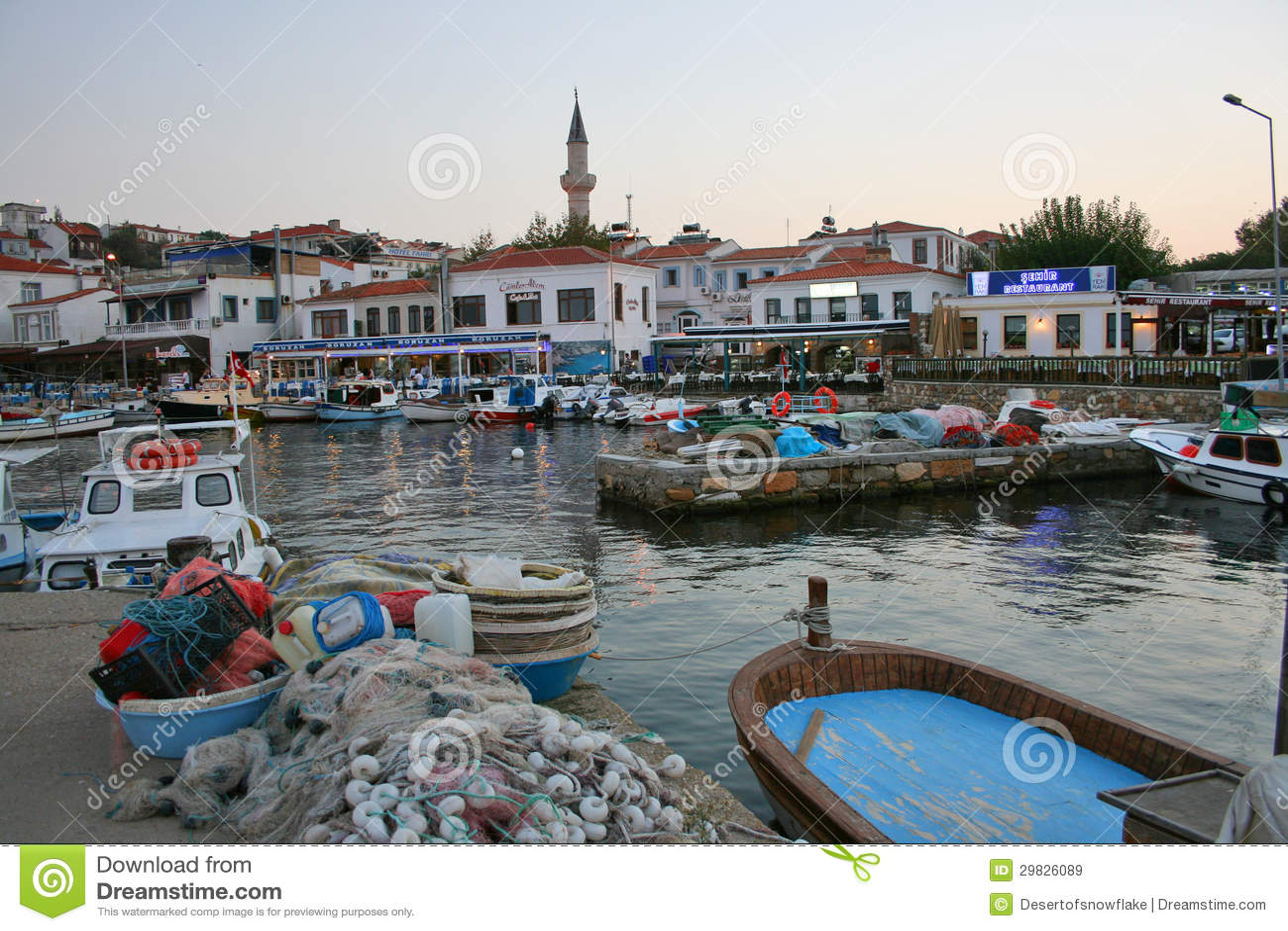 Port Of Bozcaada Editorial Stock Image - Image: 29826089