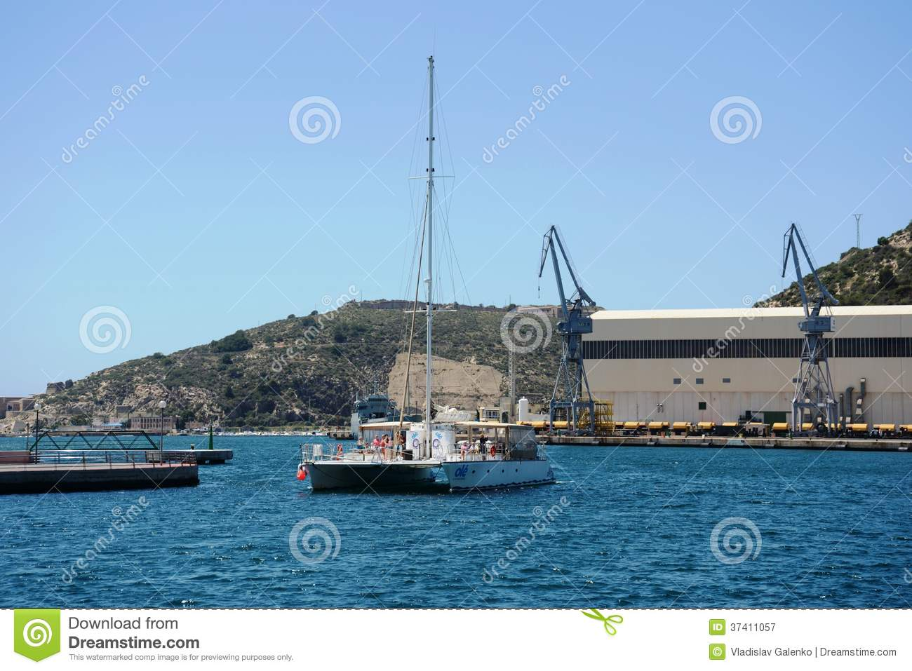 the port of cartagena spain editorial photography image of naval