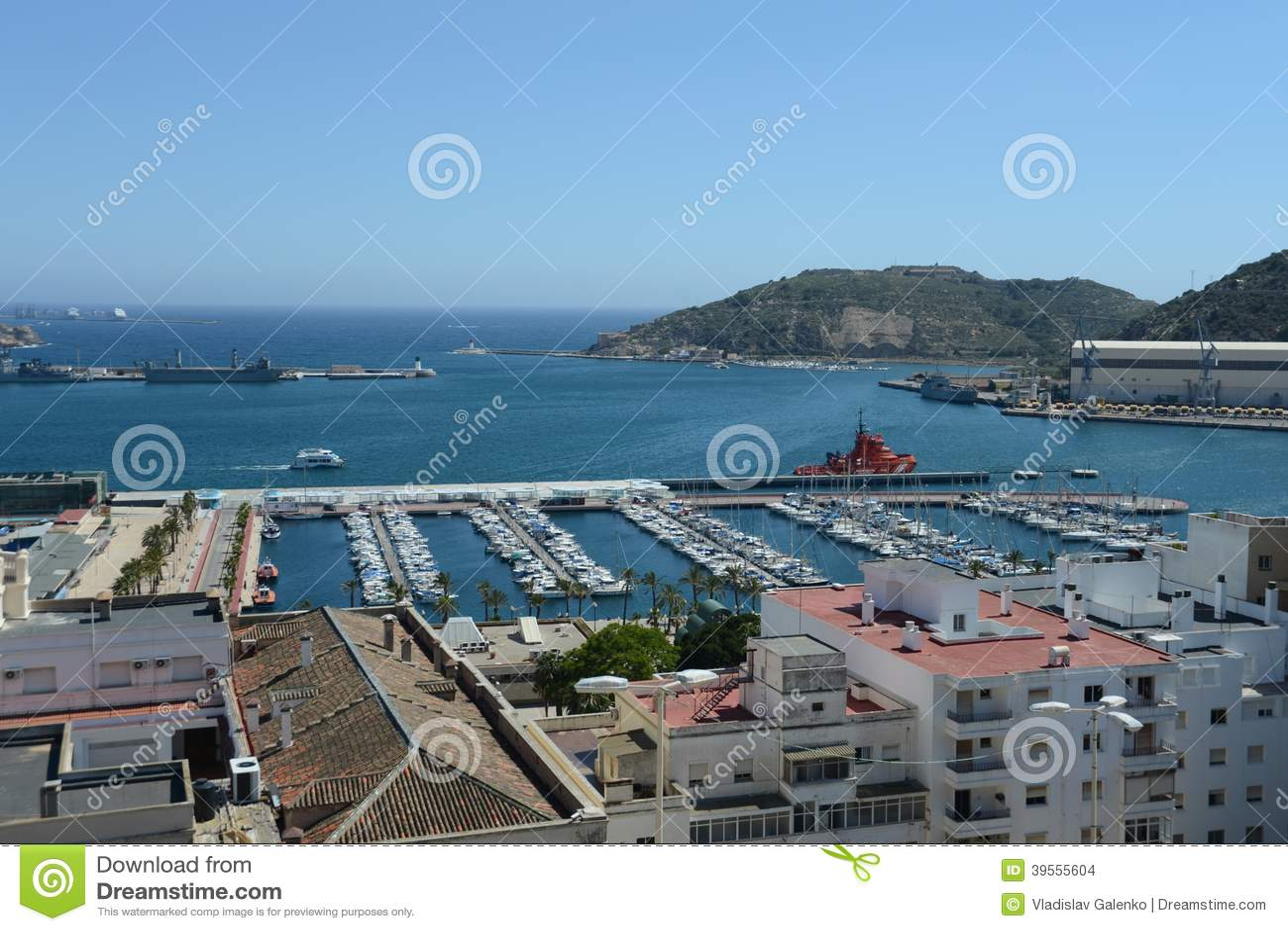 the port of cartagena spain stock photo image of mediterranean