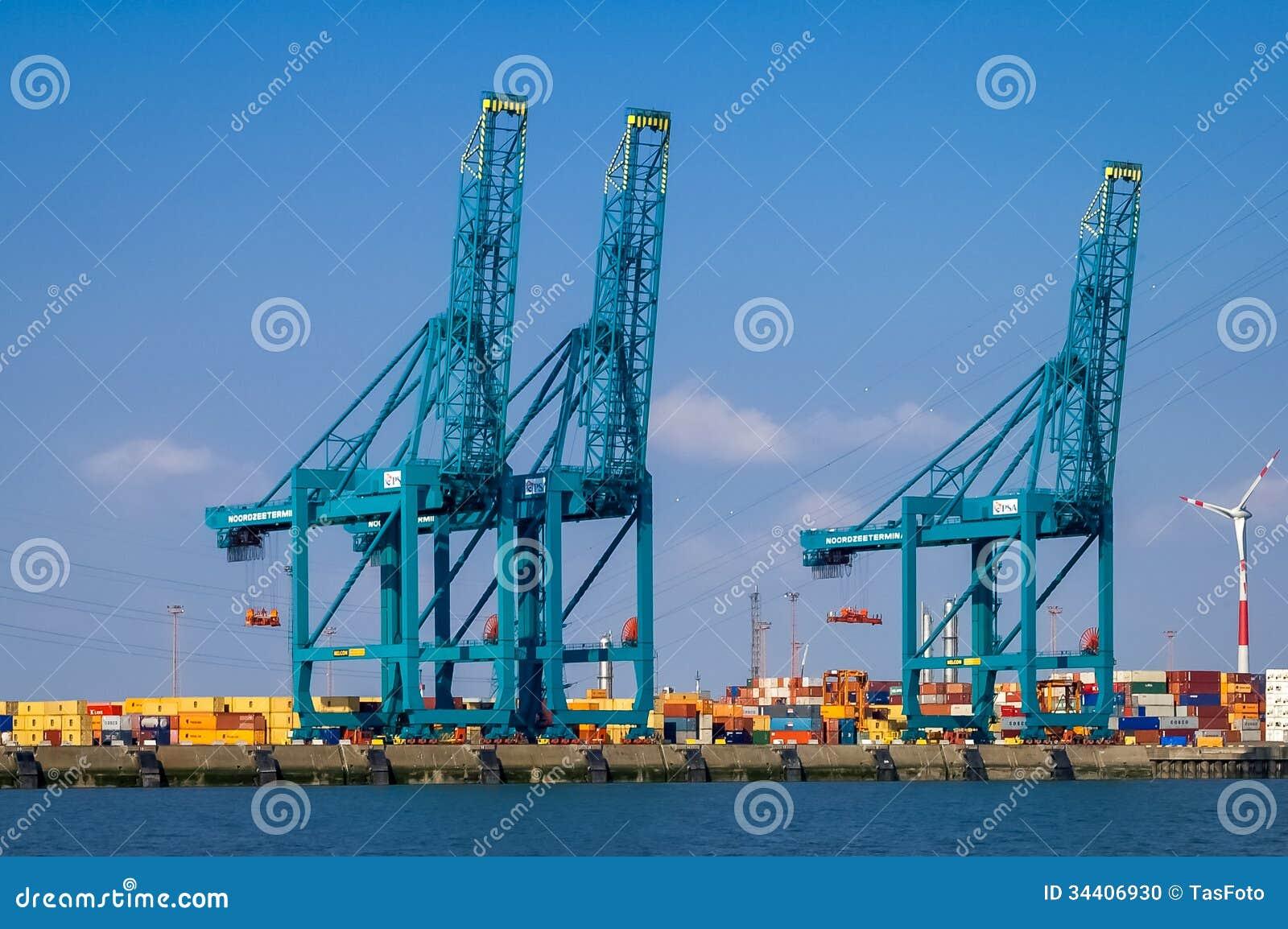 Port d 39 anvers belgique image ditorial image 34406930 - Port d anvers belgique adresse ...