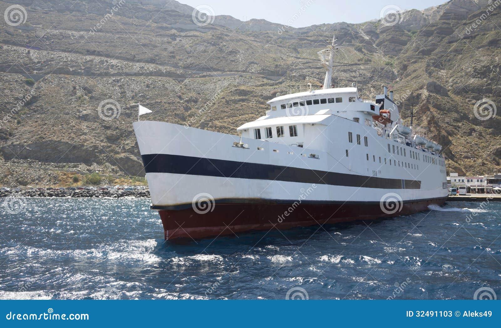 Port dans la caldeira de Santorini