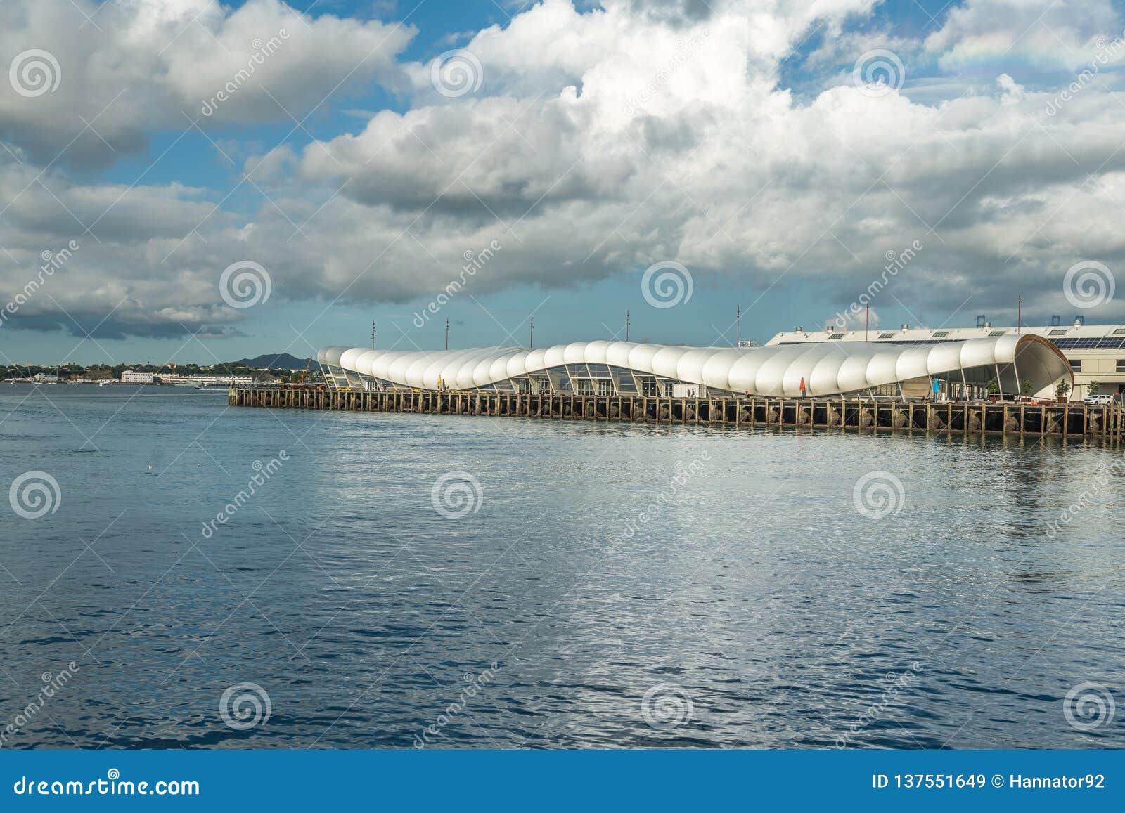 Port de croisière d Auckland et bâtiment moderne, Auckland du centre, Nouvelle-Zélande