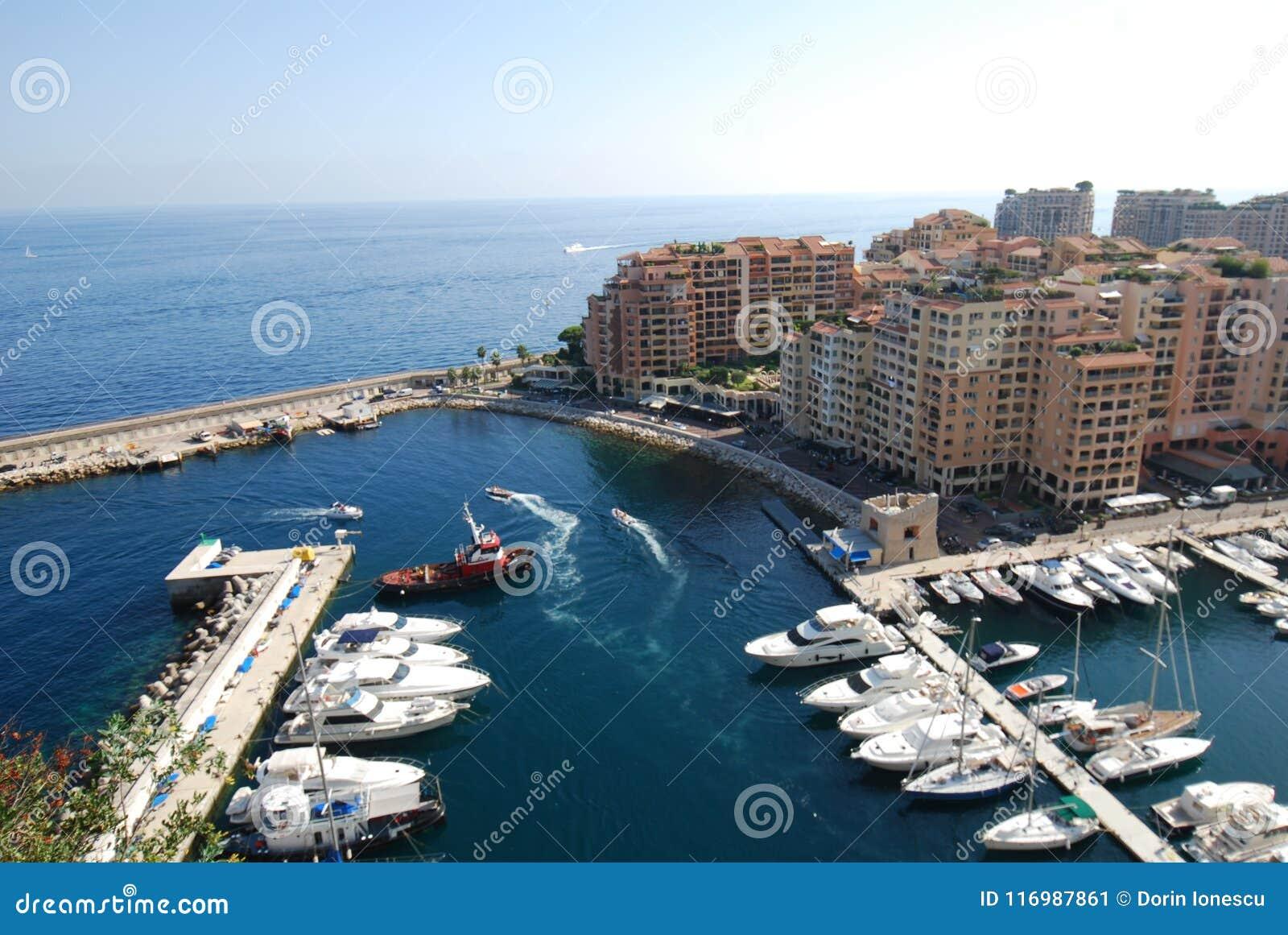 Port DE Fontvieille, Monaco, jachthaven, watervervoer, overzees, haven