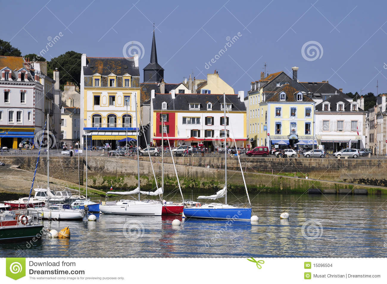 Port de le palais la belle ile en france photo stock - Belle piscine ile de france ...