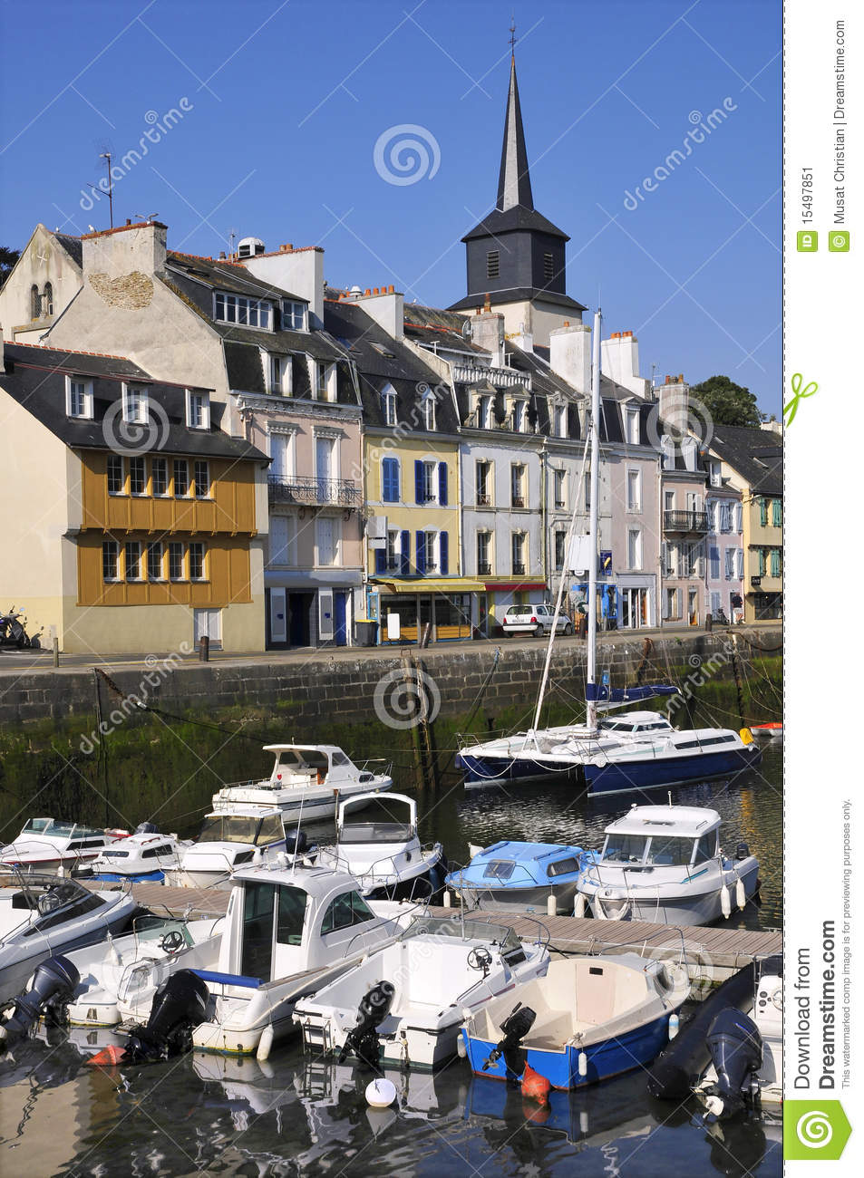 Port de le palais la belle ile en france image stock - Belle piscine ile de france ...