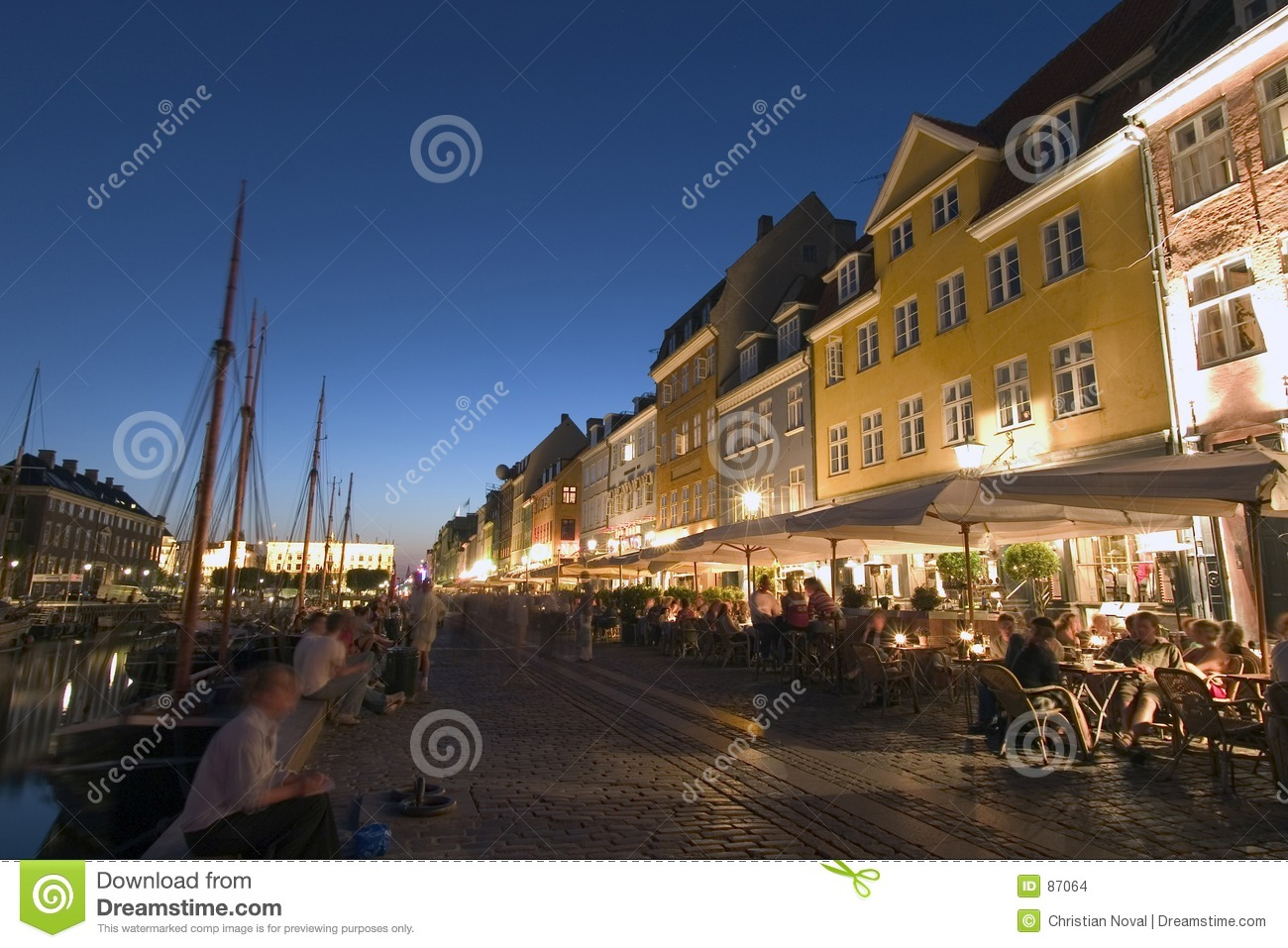 Port de Nyhavn et restaurants, Copehagen