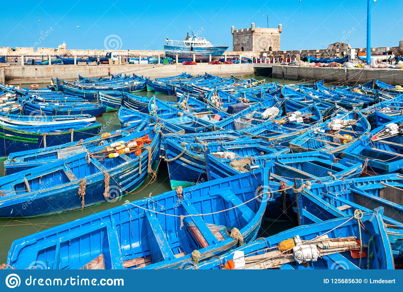 In the port of Essaouira