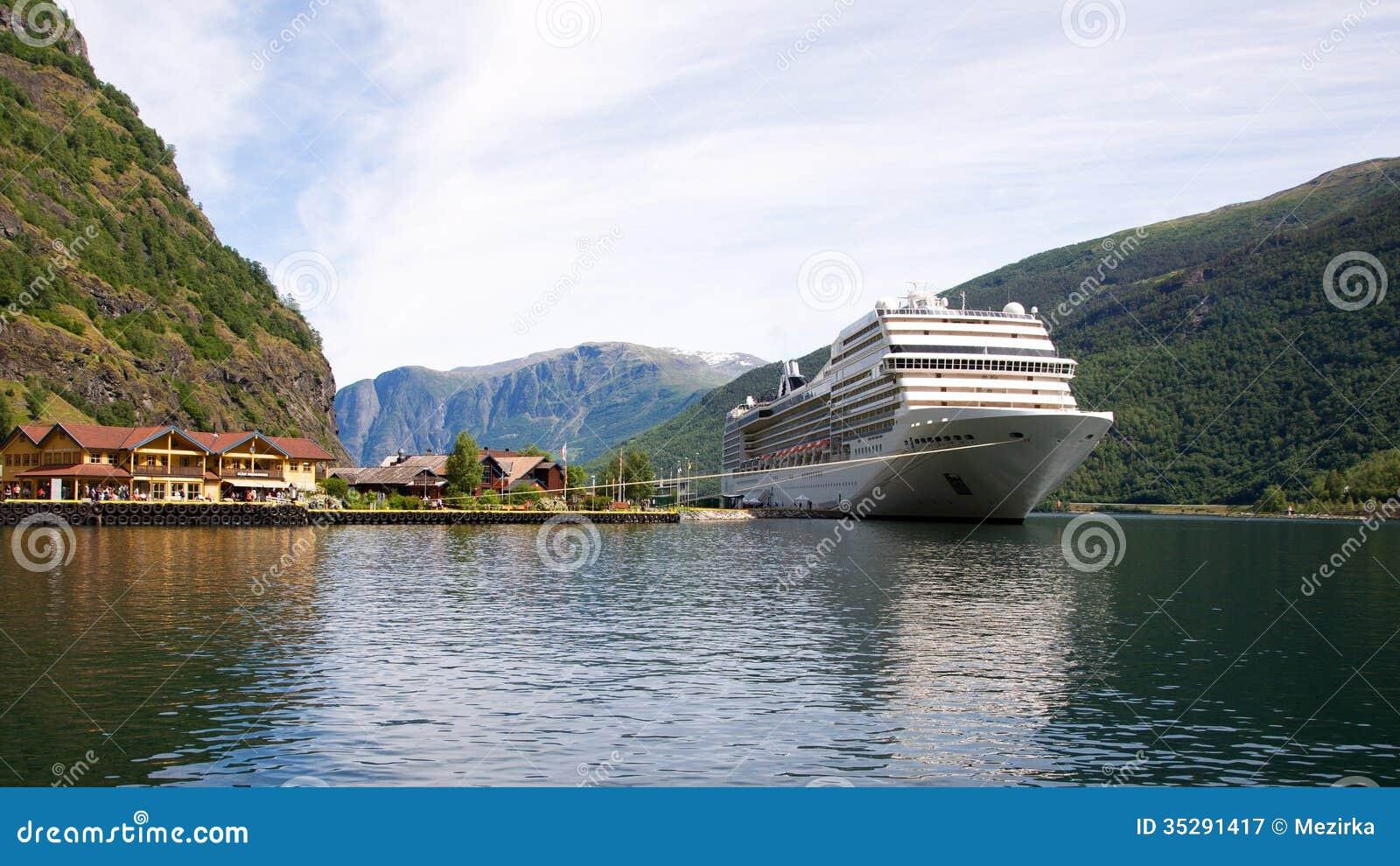 Port Of Flam Norway Stock Image Image Of European