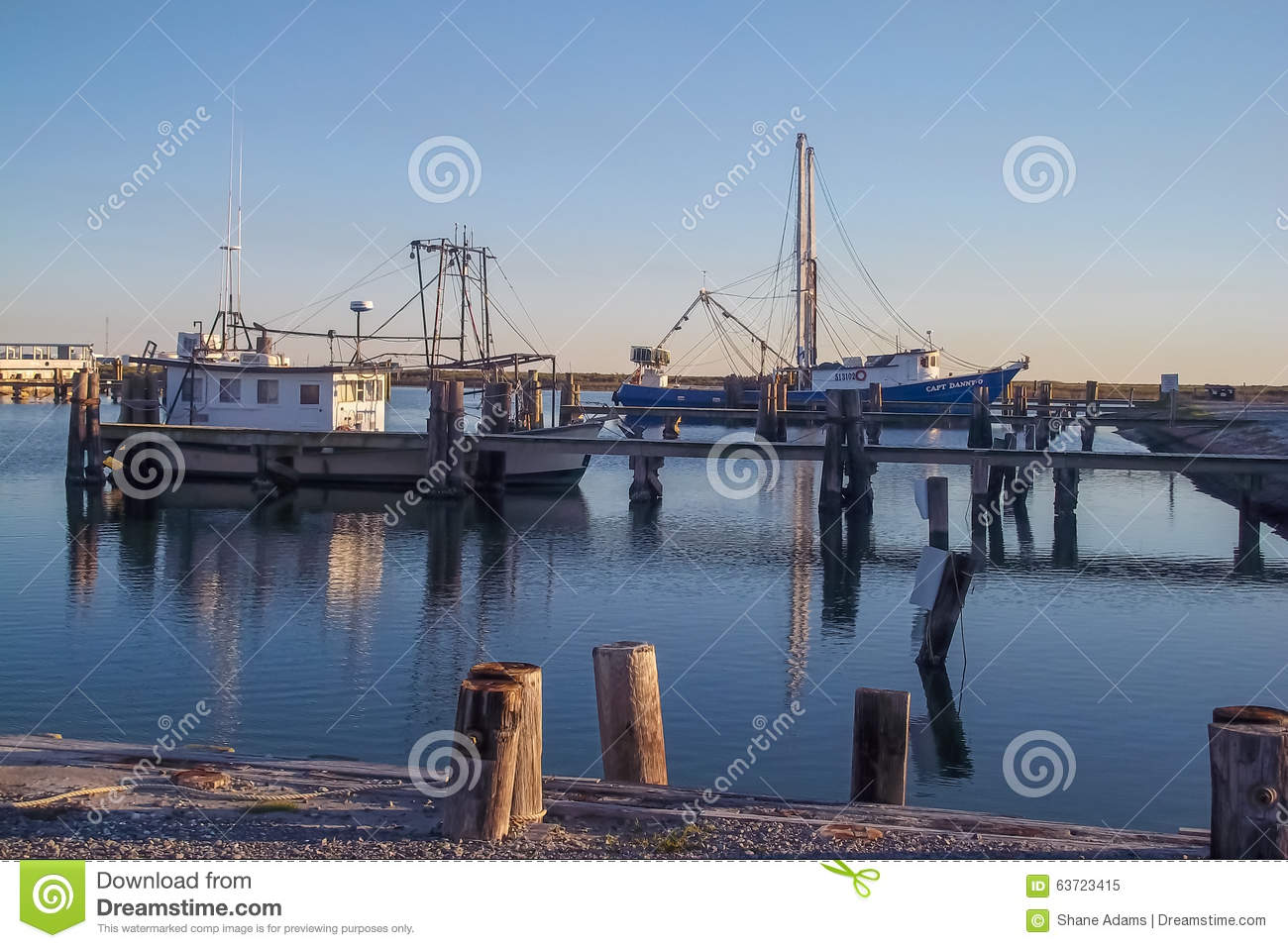 Port fourchon louisiana stock photo image 63723415 for Commercial fishing boats for sale gulf coast