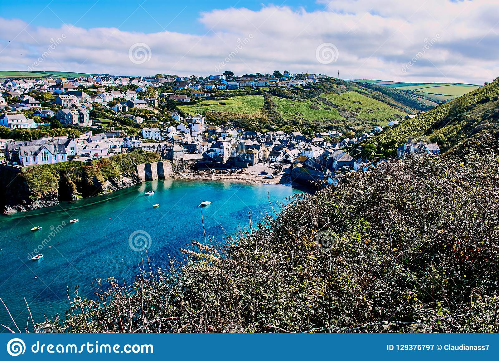 Port Isaac, liten by i norr Cornwall, England