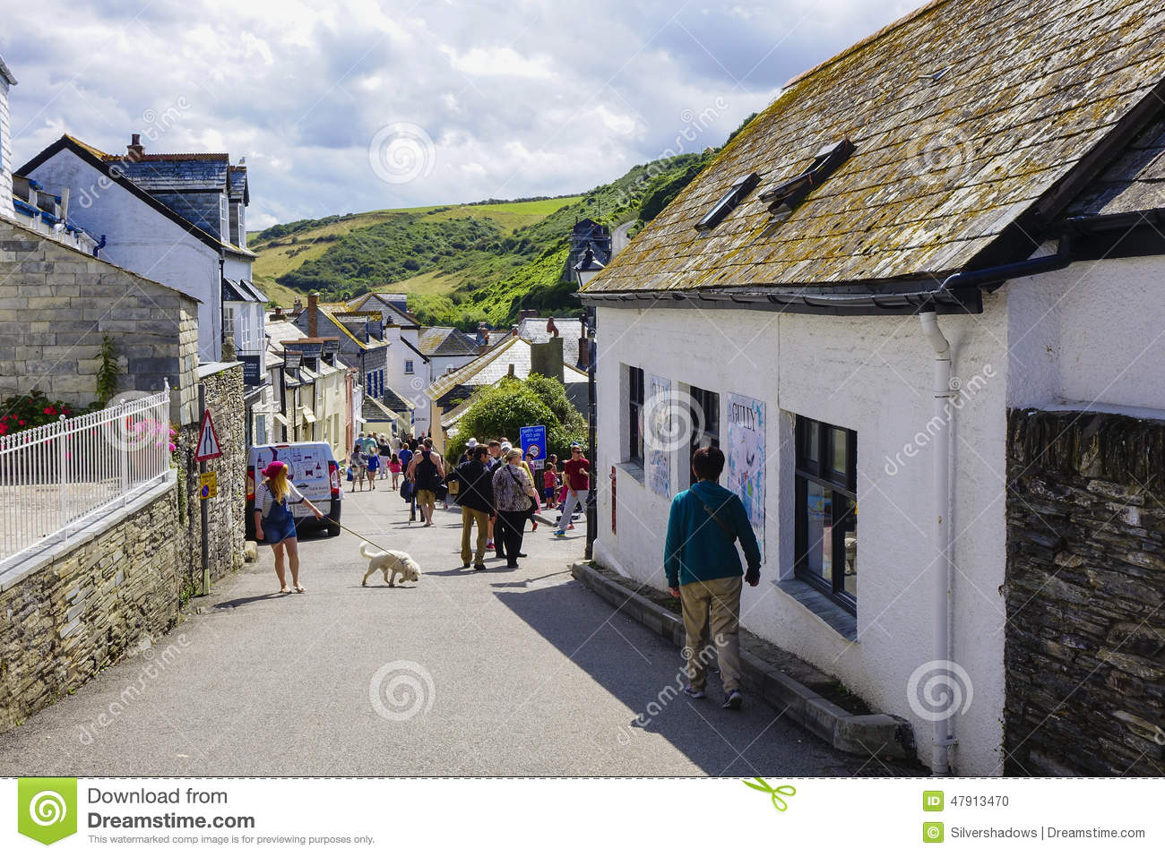 Port Issac hot sunny summers afternoon