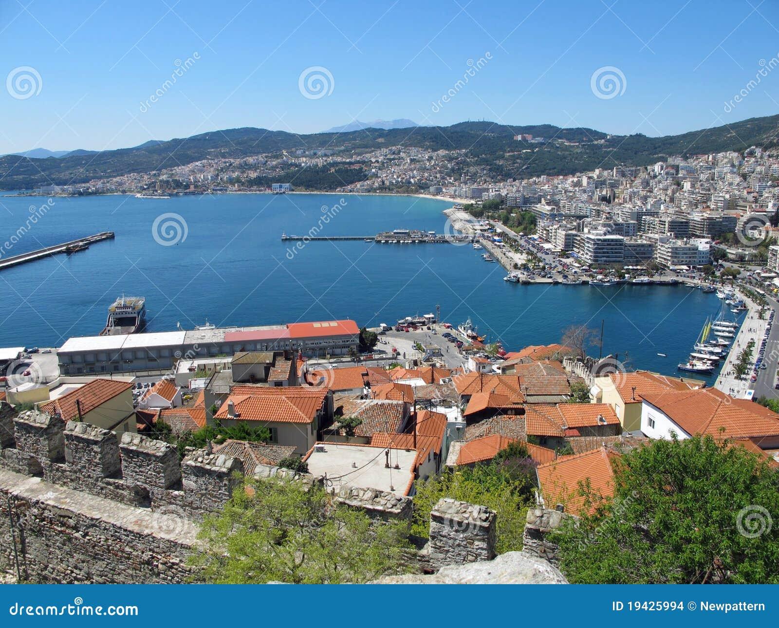 Port in Kavala, Greece