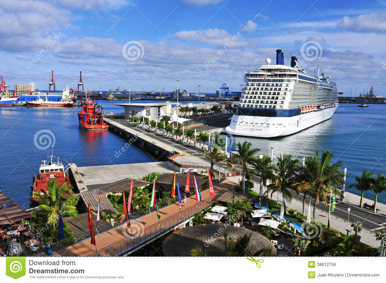 Port of las palmas de gran canaria spain editorial photo image of port place 38612756 - Port of las palmas gran canaria ...