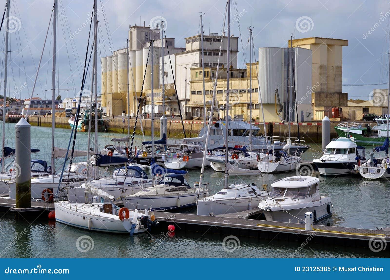 Port of les sables d 39 olonne in france royalty free stock - Restaurant le port les sables d olonne ...
