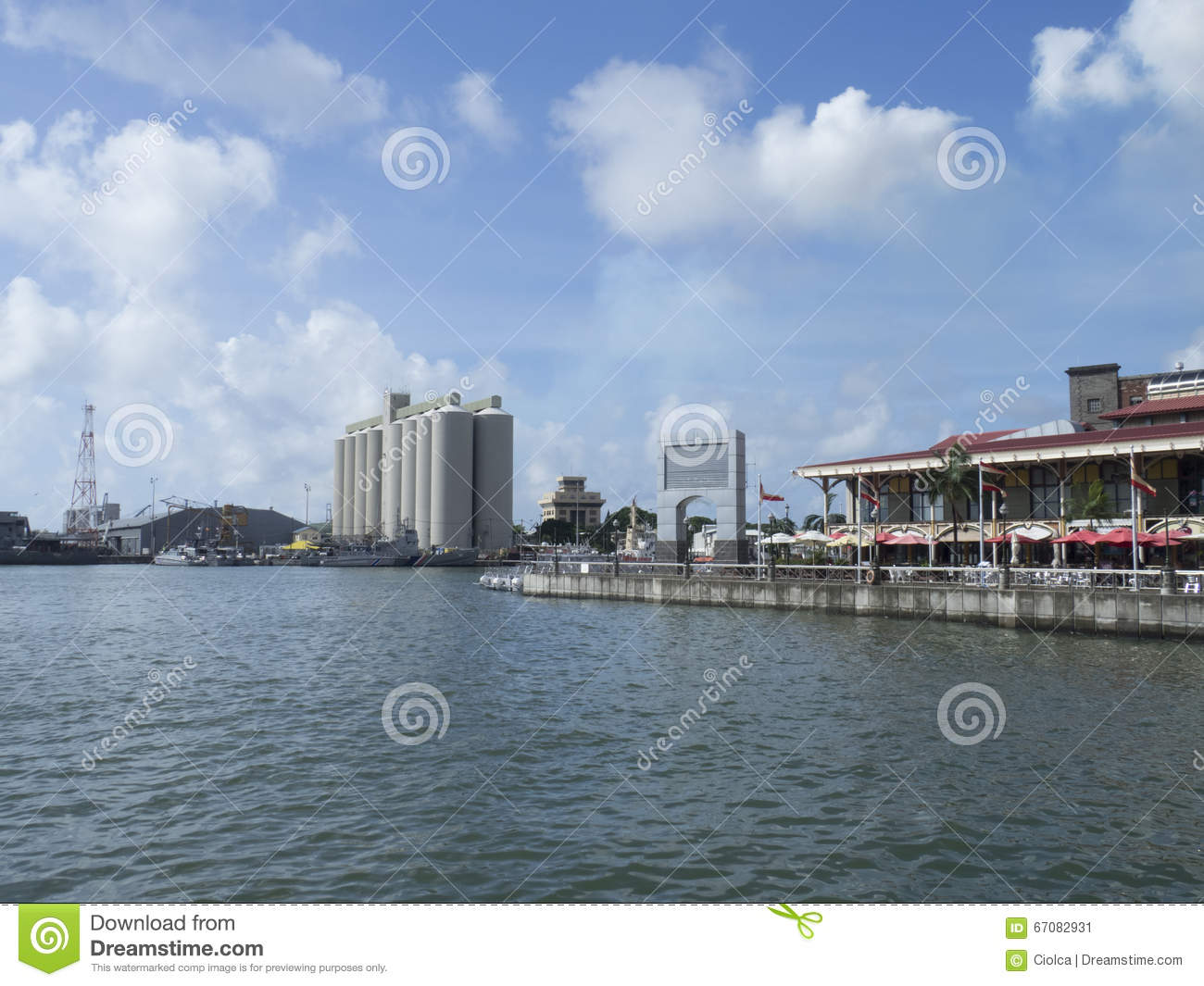 Port louis harbour mauritius editorial photo image - Where is port louis mauritius located ...