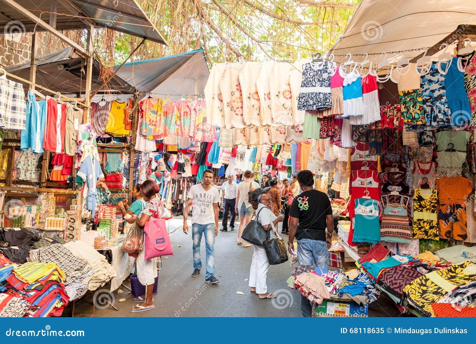 Port louis mauritius october 01 2015 market street in port louis mautirius people are - Mauritius market port louis ...