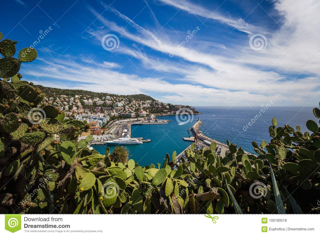 Port Lympia as seen from Colline du Chateau - Nice, France