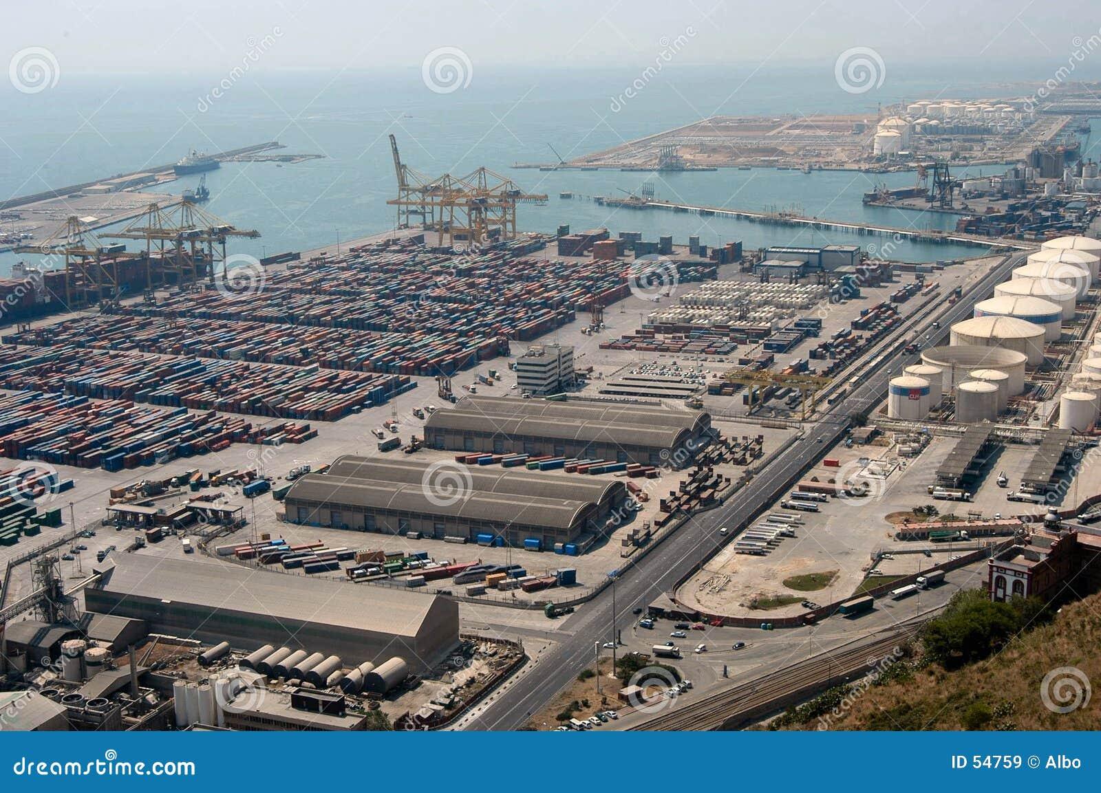 Download Port maritime industriel image stock. Image du bateau, transport - 54759