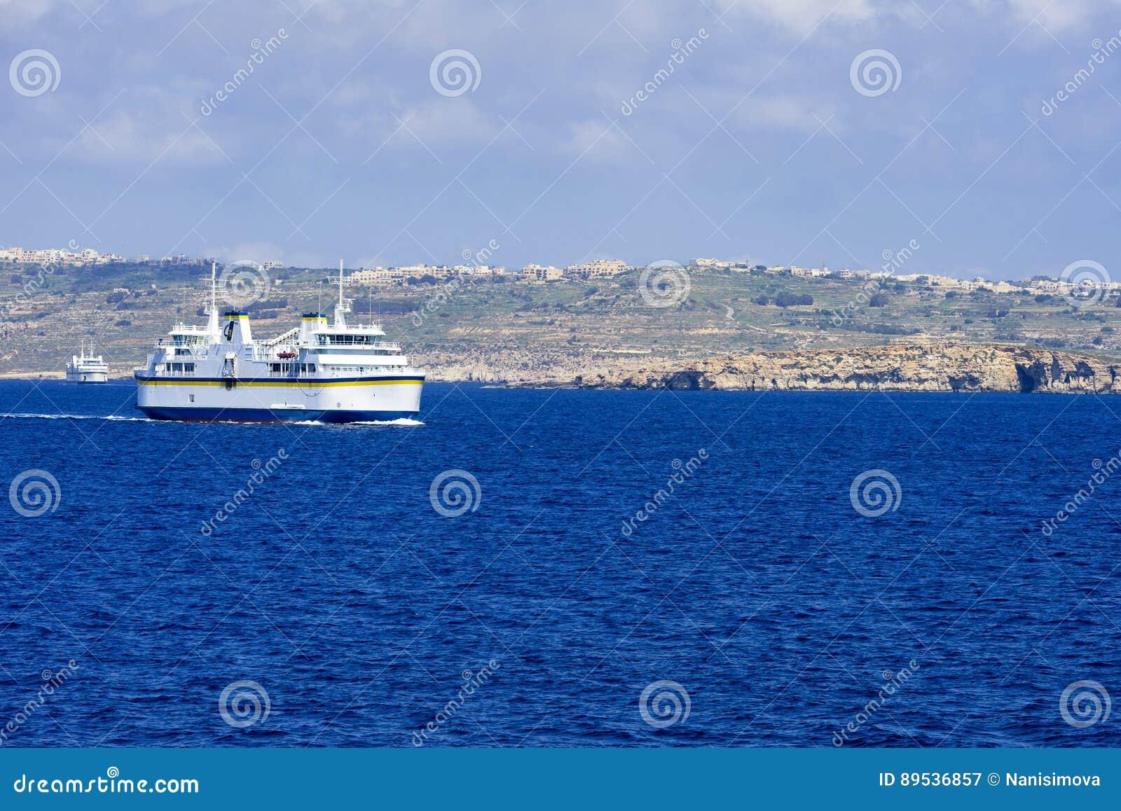 Port Mgarr na Gozo wyspie przy Malta