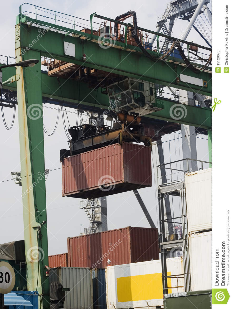 At the Port - moving cargo
