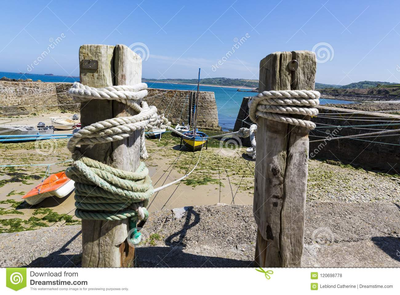 Small Boats Suspended On The Ship In Smallest Port Of France How To Wire A Boat Download Racine