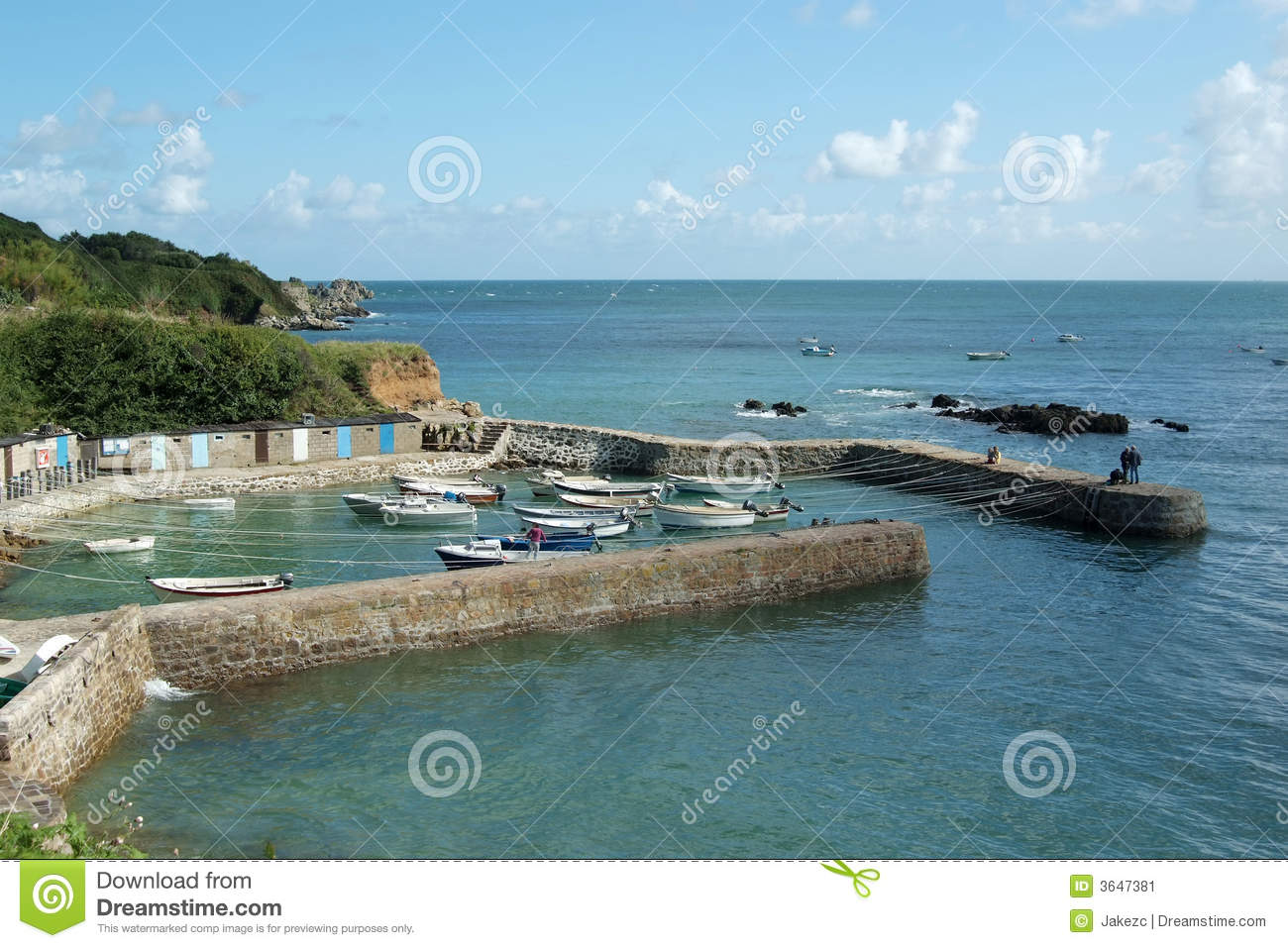 Download Port Racine (Normandy) stock image. Image of cabin, boat - 3647381