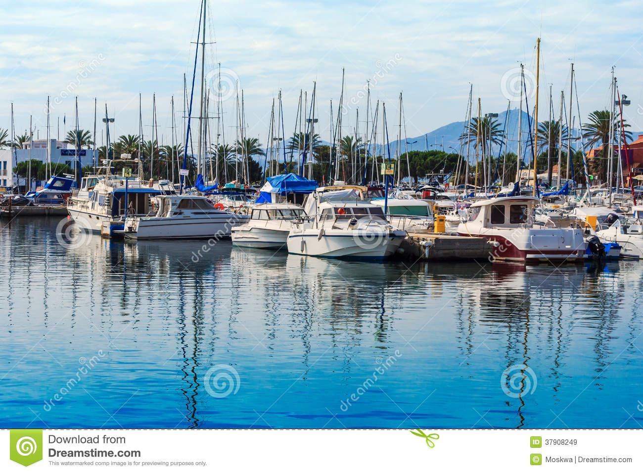 The Port Of Saint Cyprien Southern France Stock Image Image Of