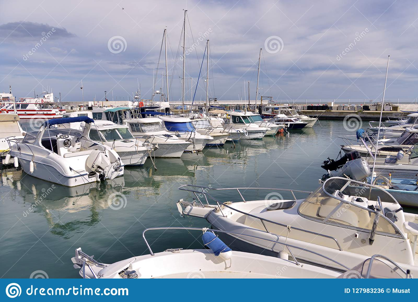 Port Of Saintes Maries De La Mer In France Stock Photo Image Of