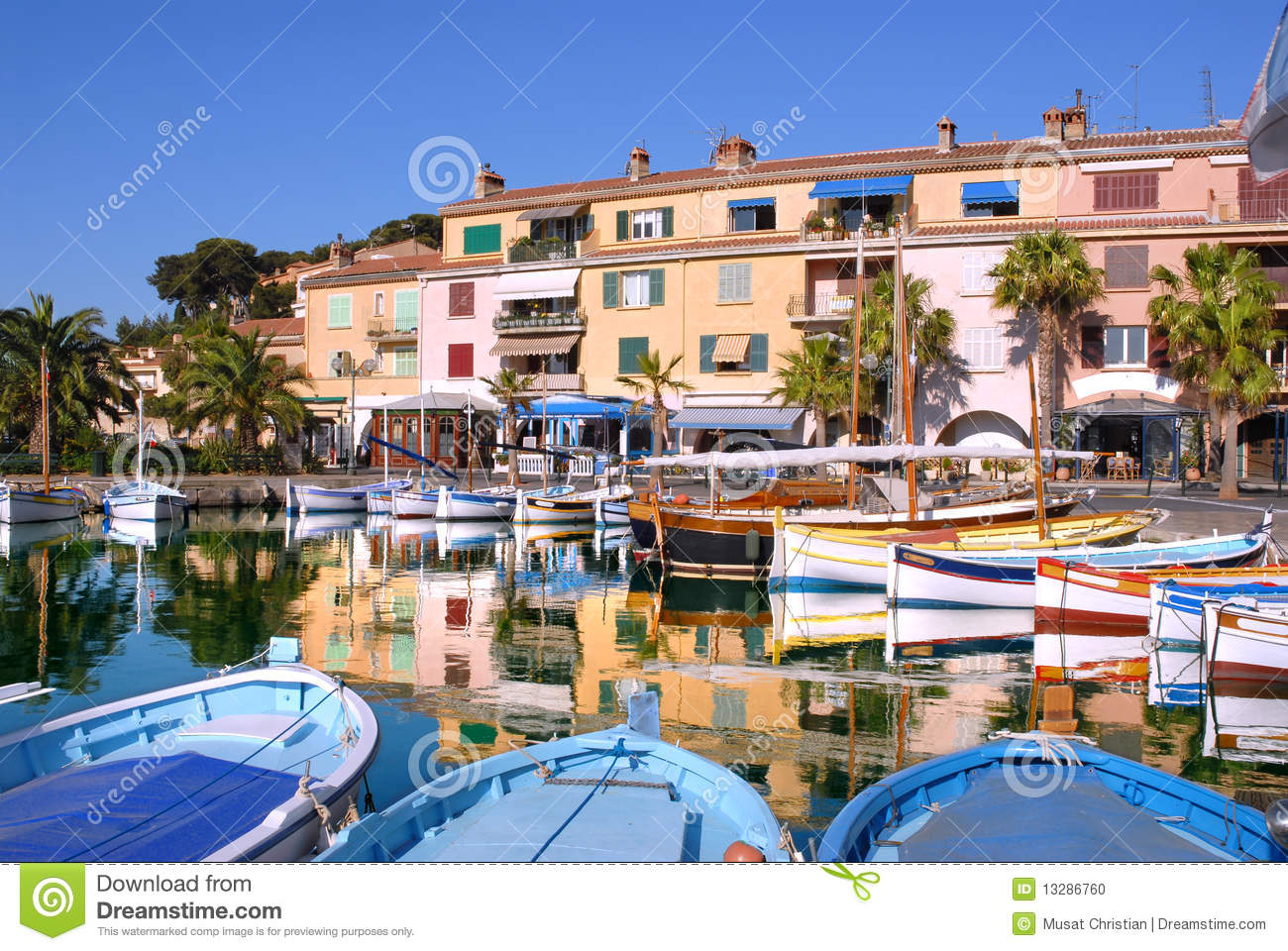 Port of Sanary in France